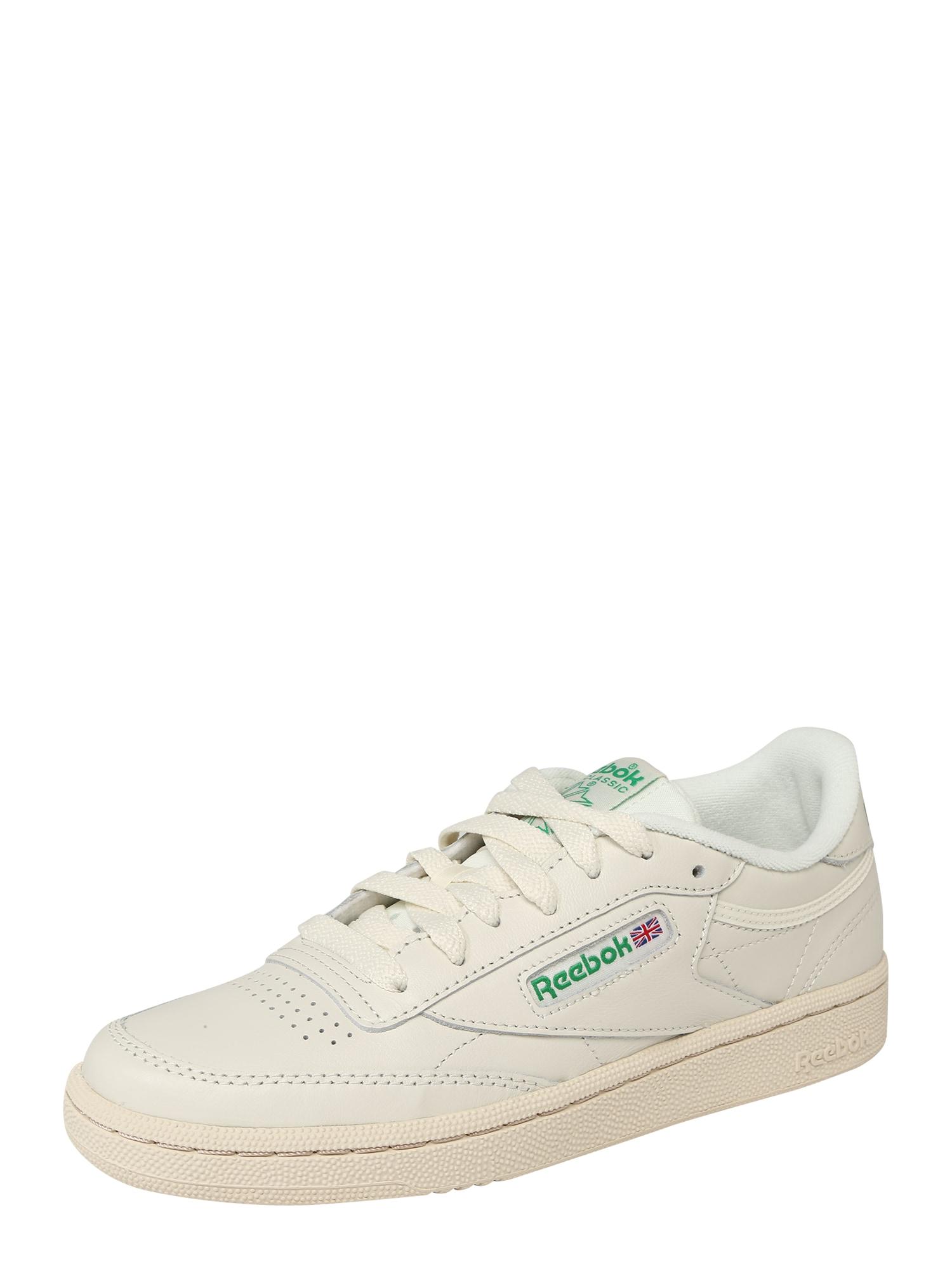 Reebok Classic Sportiniai batai 'Club C' žalia / smėlio