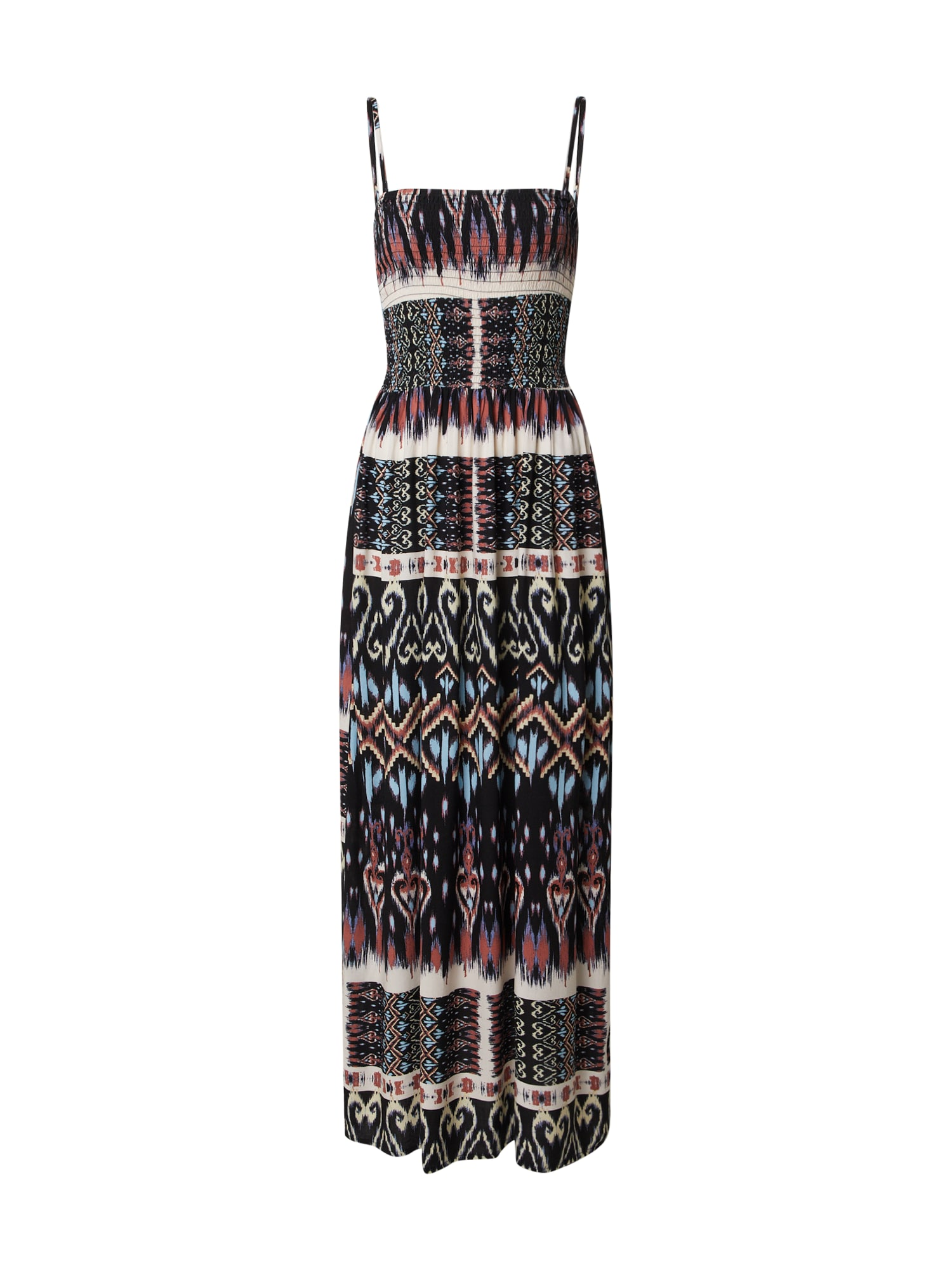 JACQUELINE de YONG Plážové šaty 'TRAVIS'  biela / čierna / modré / hnedé