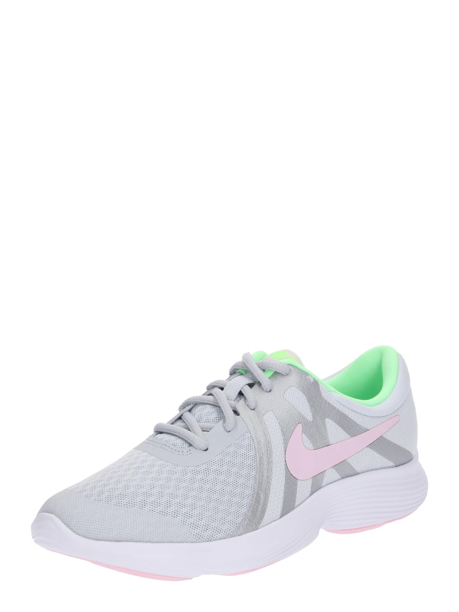 Sportovní boty Revolution 4 šedá mátová pink NIKE