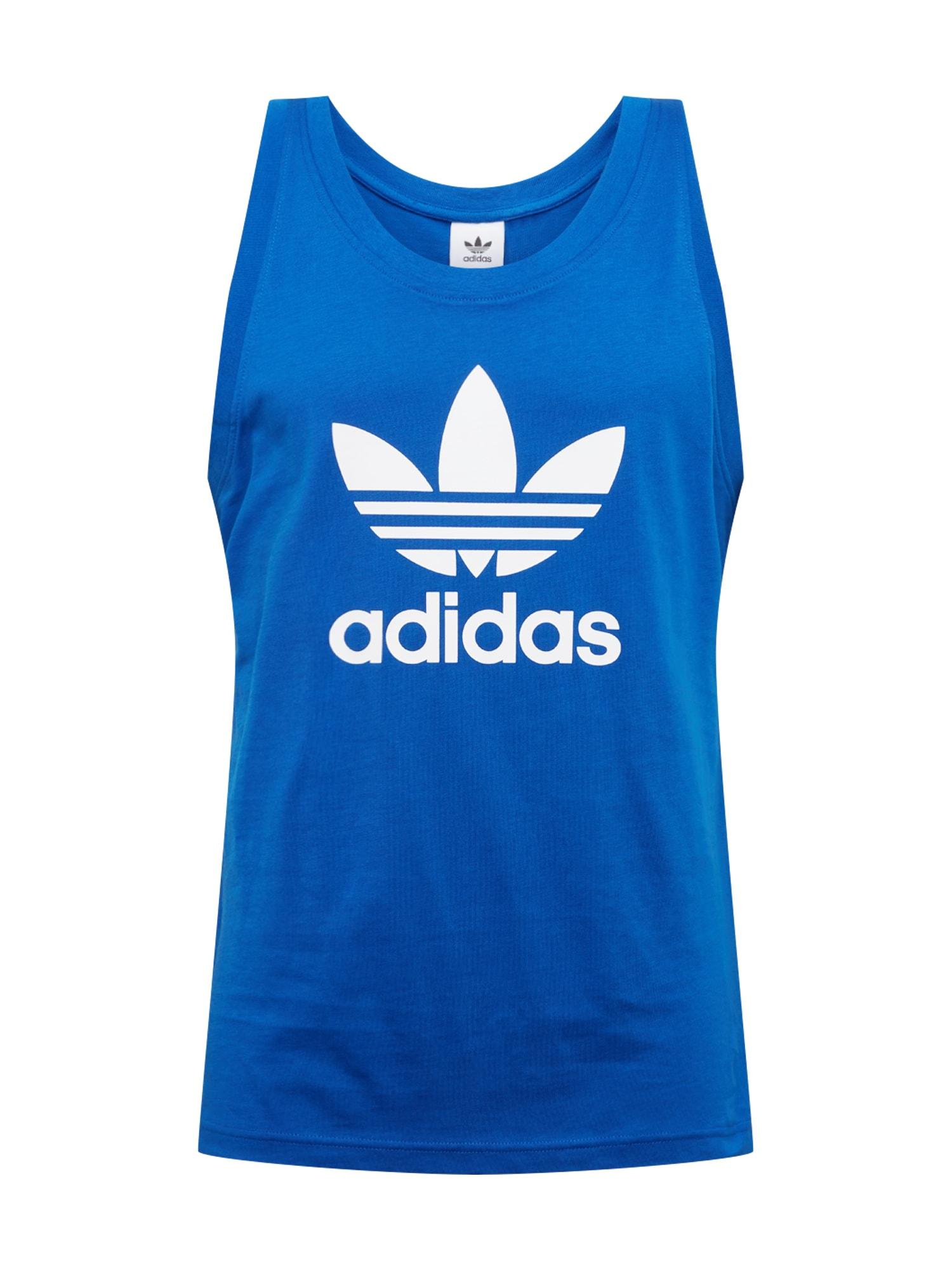 "ADIDAS ORIGINALS Marškinėliai 'TREFOIL' balta / sodri mėlyna (""karališka"")"