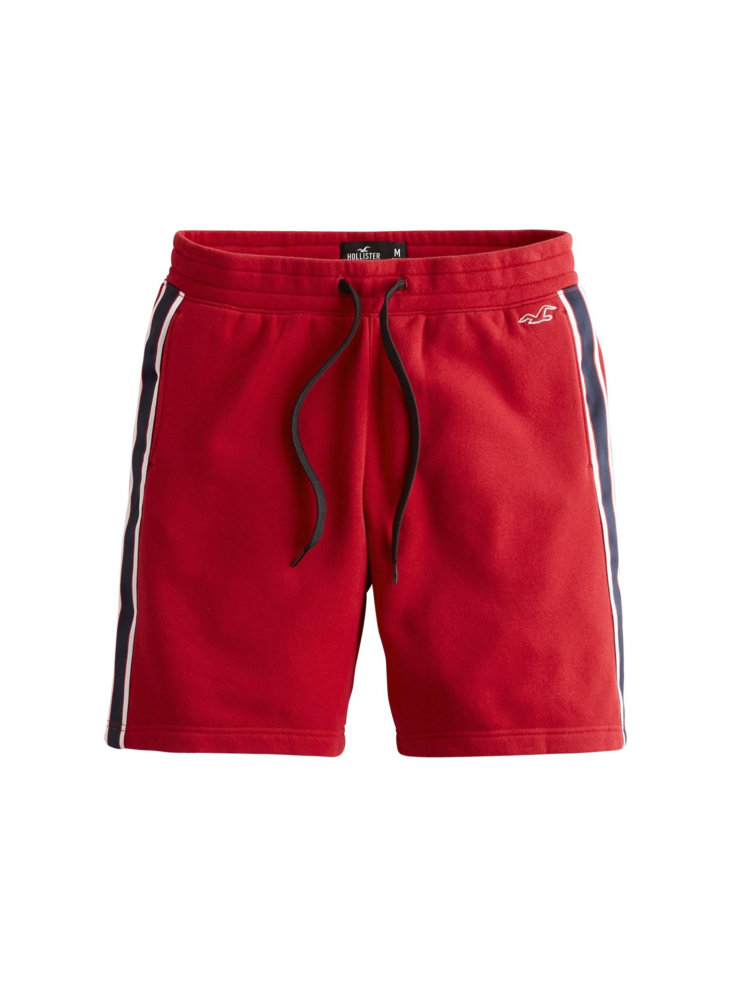HOLLISTER Kalhoty  červená