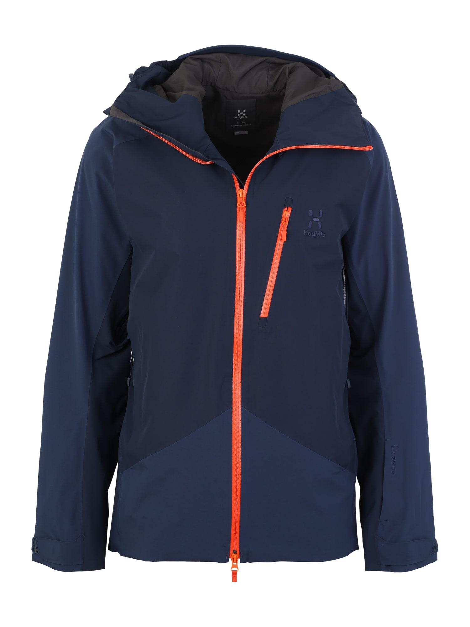Haglöfs Laisvalaikio striukė 'Niva' tamsiai mėlyna / tamsiai mėlyna / oranžinė-raudona