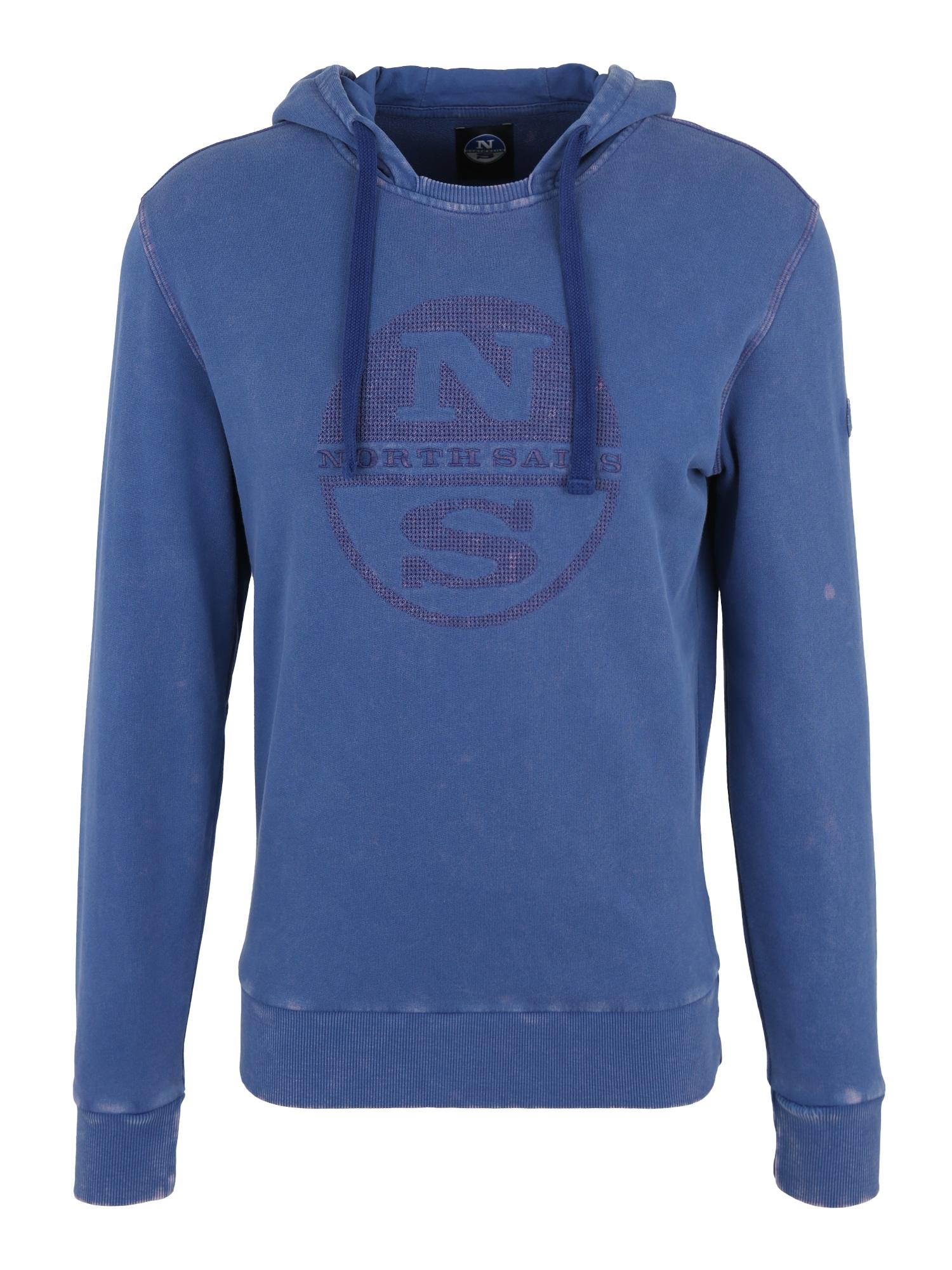Sportovní mikina HOODED SWEAT WGRAPHIC modrá North Sails