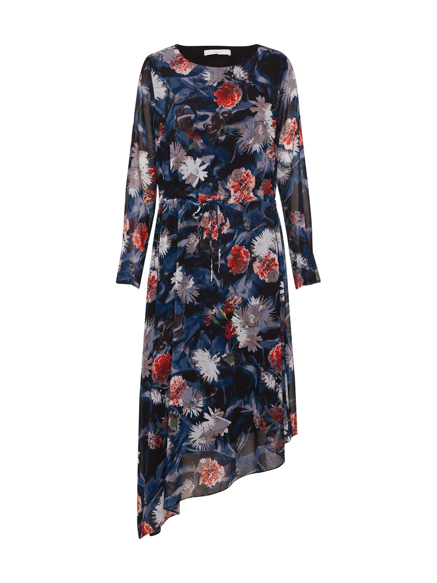 Šaty POSELENEA LONG STRING DRESS modrá růžová POSTYR