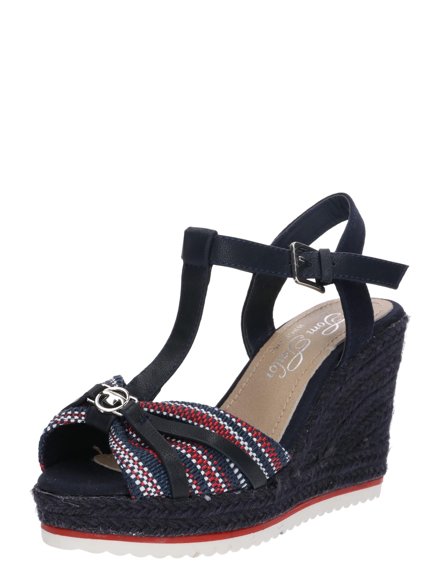 newest collection eb621 61cda AboutYou | SALE Damen TOM TAILOR Sandale beige, blau, blau ...