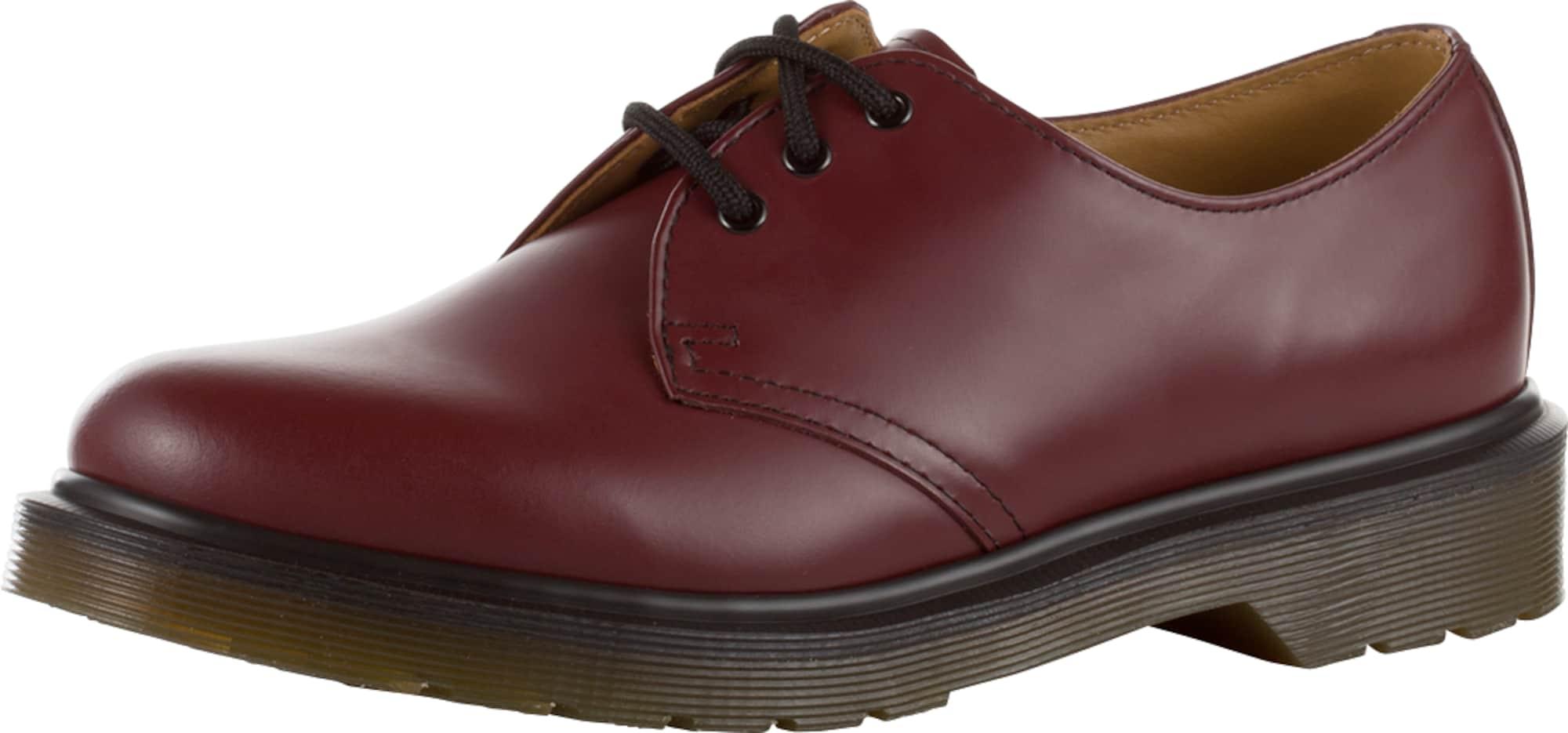 dr martens leder halbschuhe 39 3 eye shoe smooth 39 im unisex look in rot about you. Black Bedroom Furniture Sets. Home Design Ideas