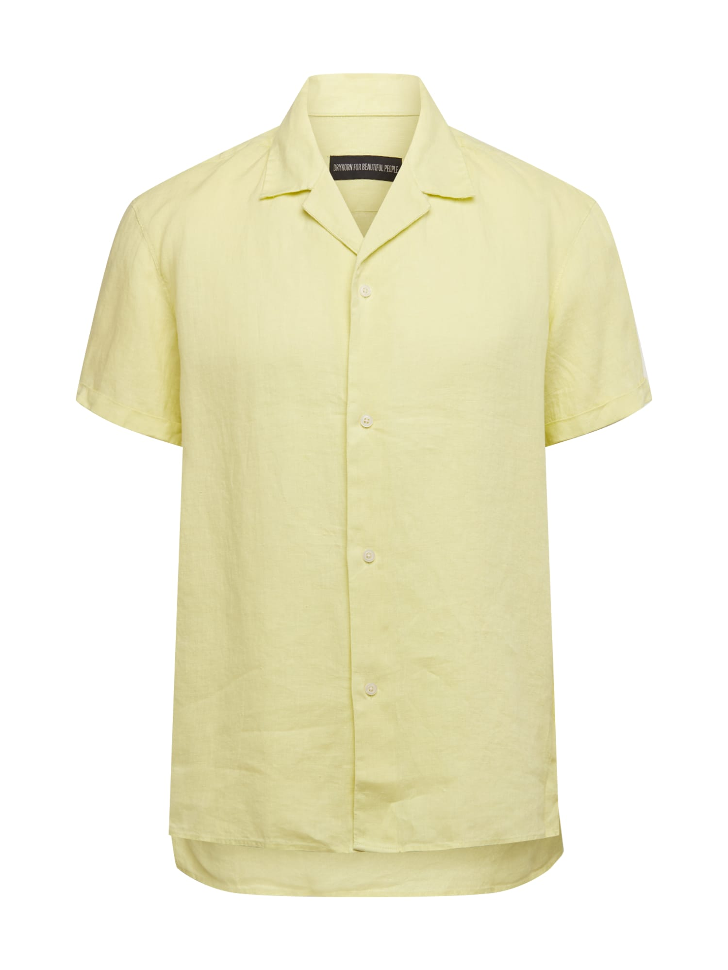 DRYKORN Dalykiniai marškiniai 'Bijan' šviesiai geltona