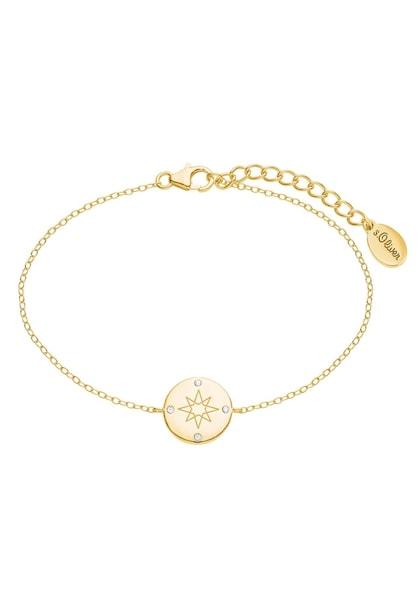 Armbaender für Frauen - Armband 'Kompass, 2025612' › S.Oliver › gold  - Onlineshop ABOUT YOU