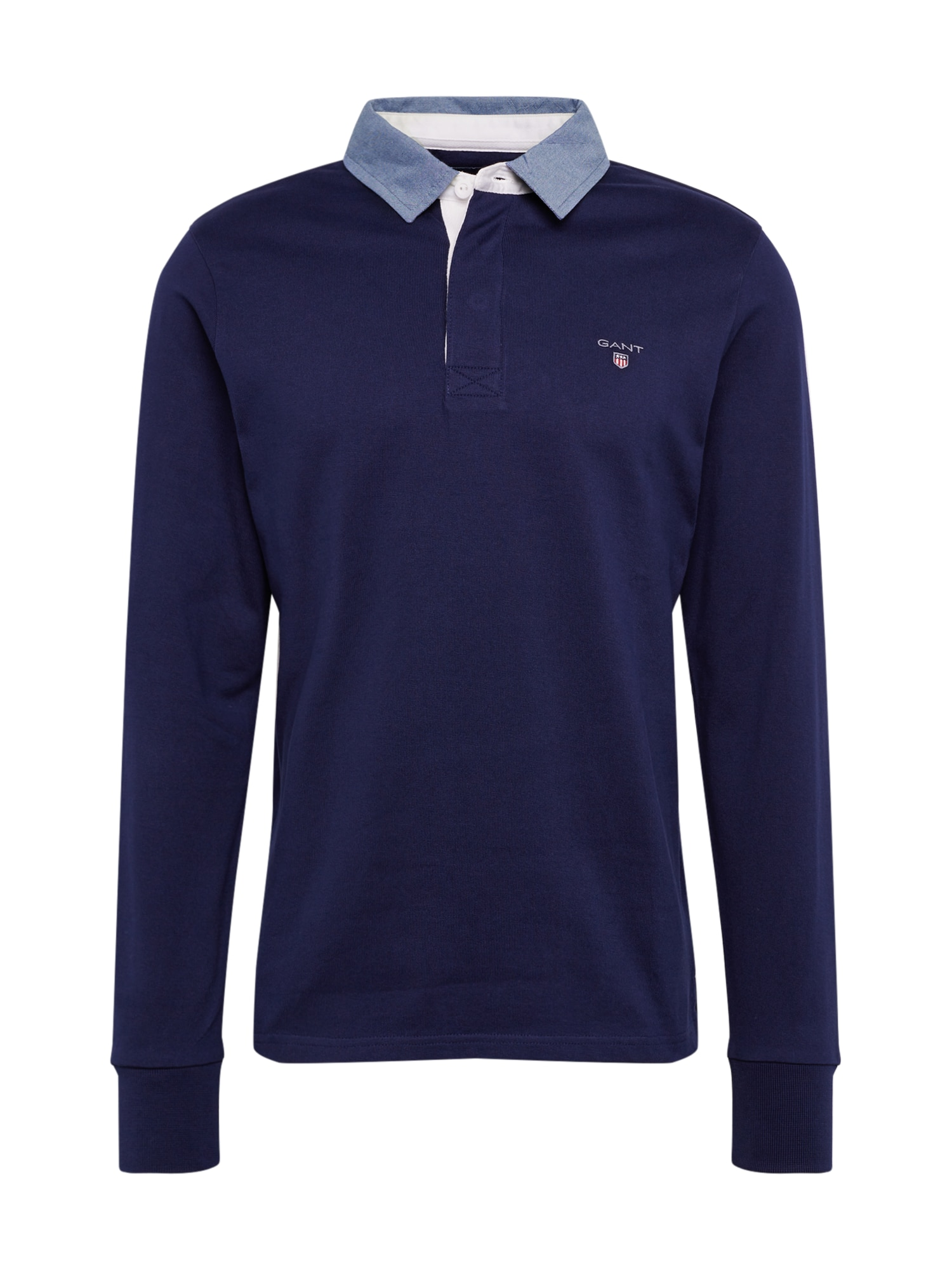 GANT Marškinėliai 'THE ORIGINAL HEAVY RUGGER' tamsiai mėlyna