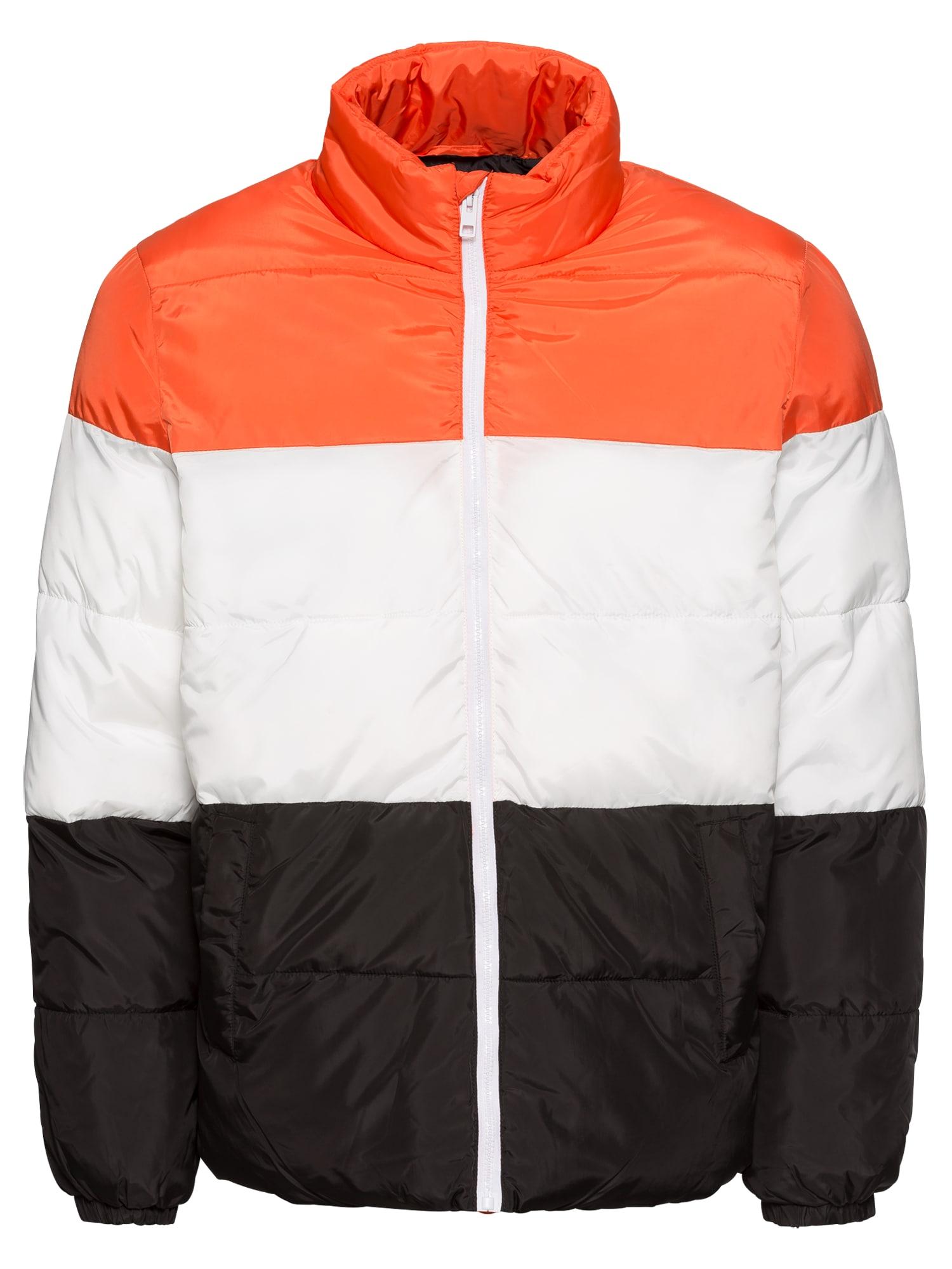 Zimní bunda oranžová černá bílá YOURTURN