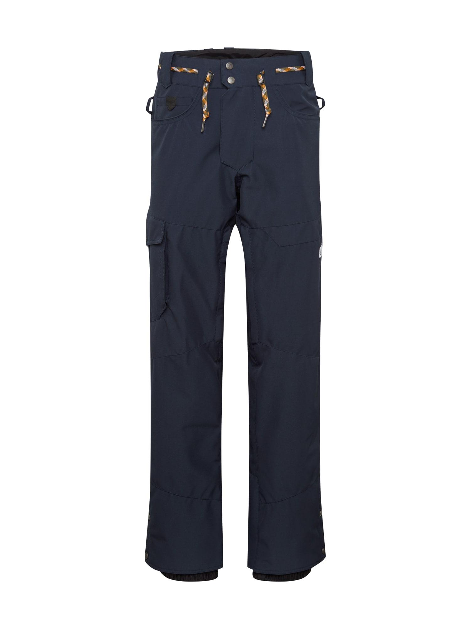 Picture Organic Clothing Laisvalaikio kelnės tamsiai mėlyna / balta
