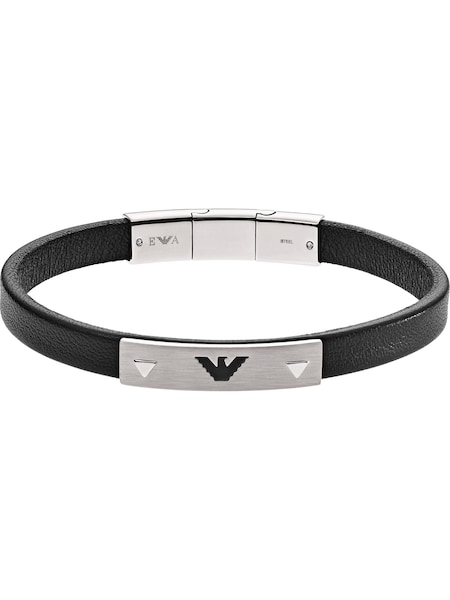 Armbaender - Armband › Emporio Armani › schwarz silber  - Onlineshop ABOUT YOU