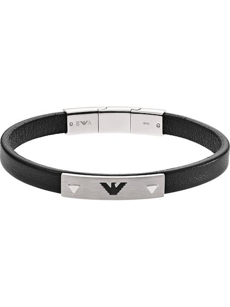 Armbaender für Frauen - Emporio Armani Armband schwarz silber  - Onlineshop ABOUT YOU