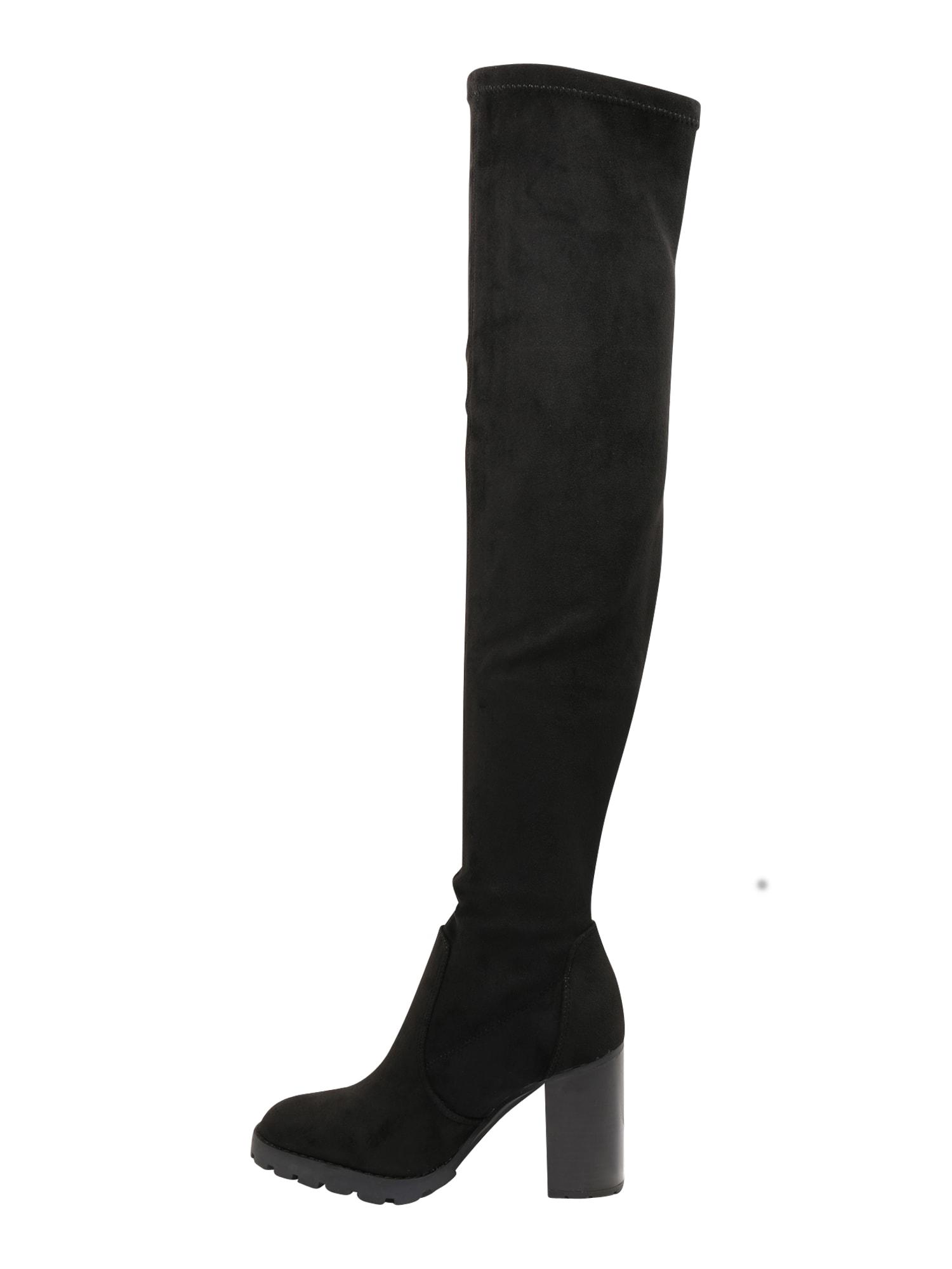 BUFFALO Ilgaauliai batai virš kelių juoda