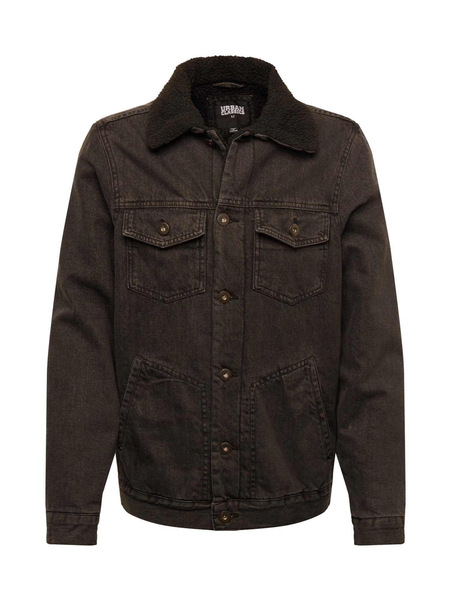 Urban Classics Prechodná bunda 'Sherpa Lined'  čierna