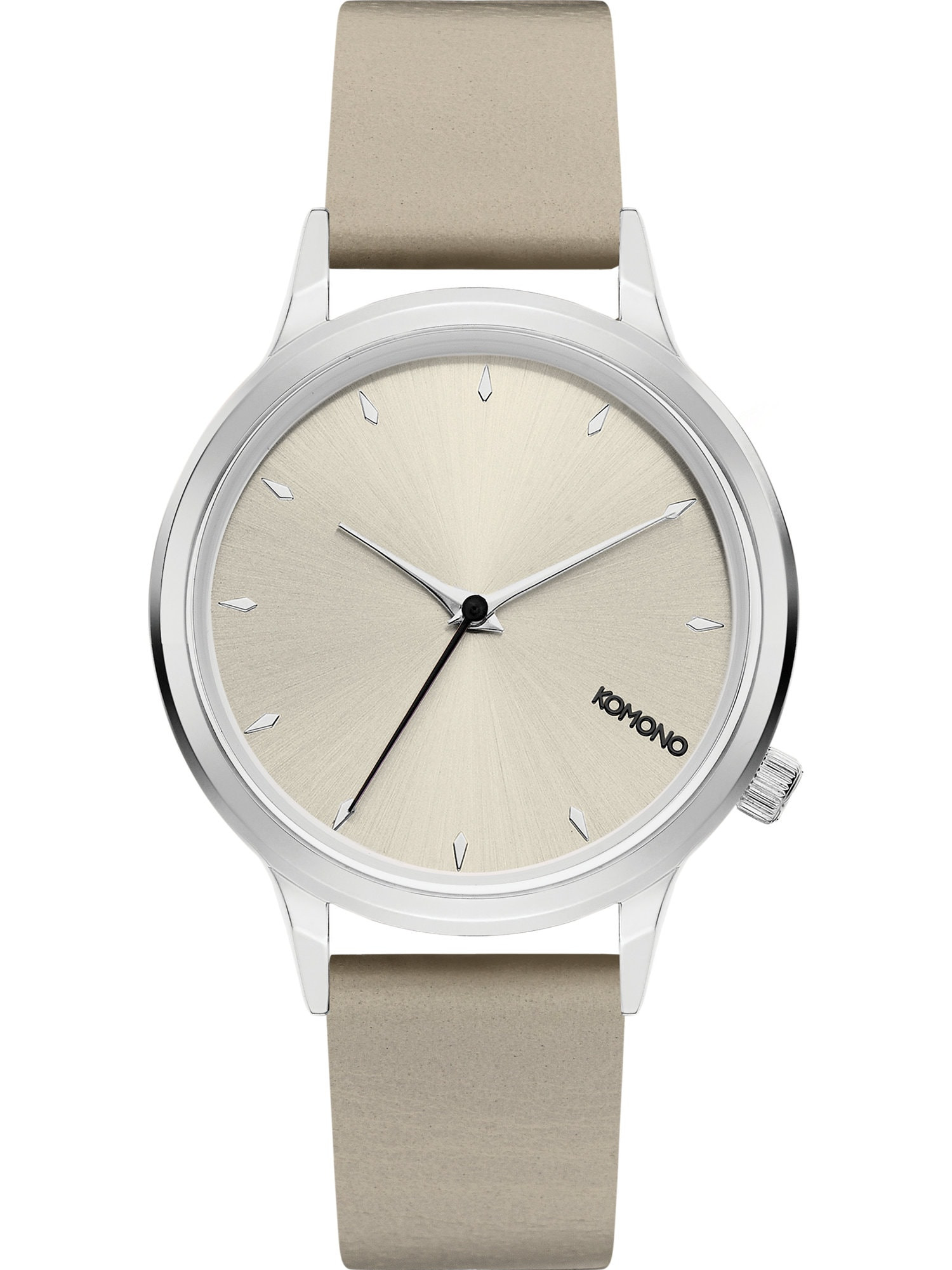 Analogové hodinky Lexi tmavě béžová stříbrná Komono