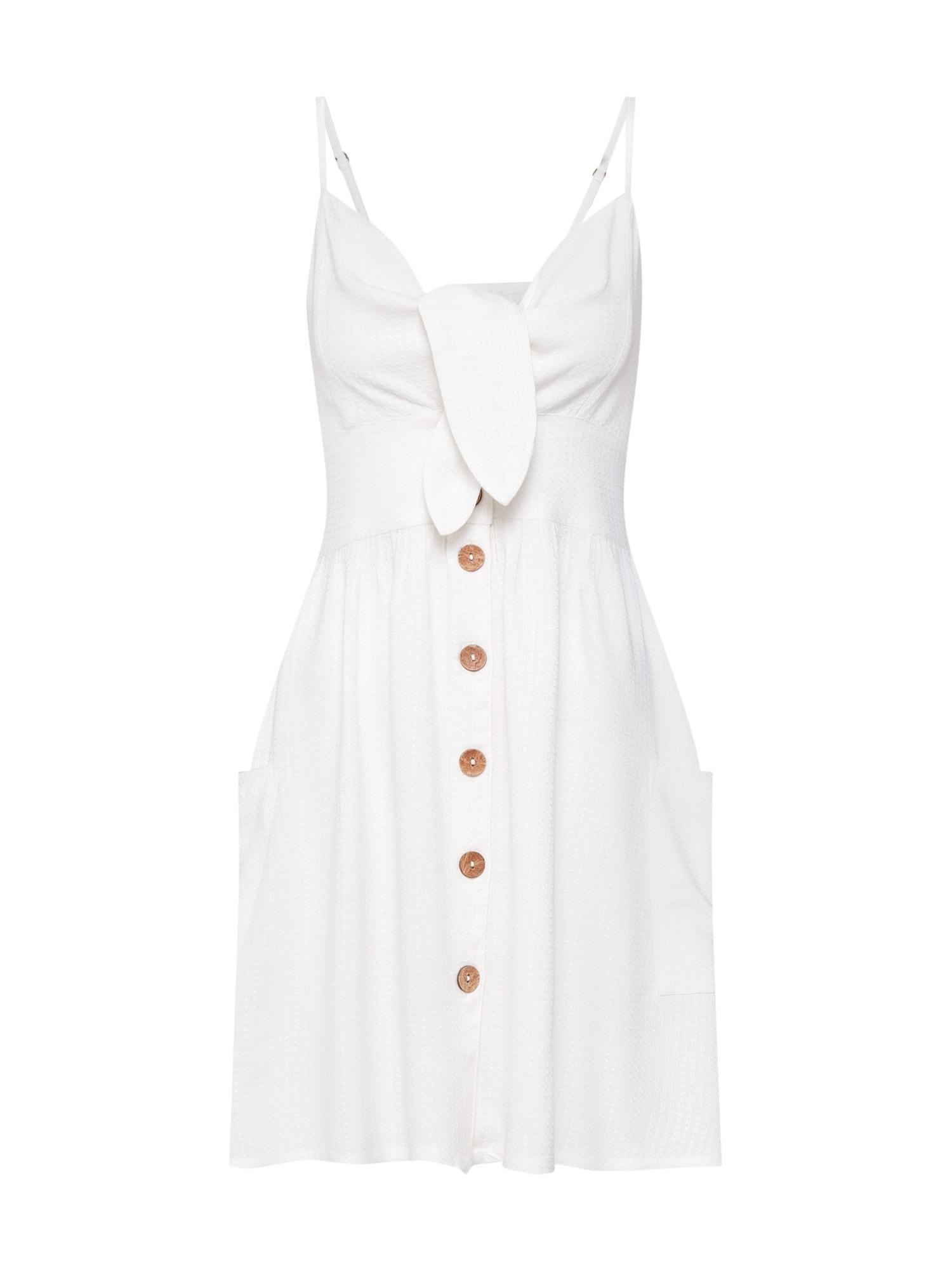 Letní šaty Under the Cali Sun bílá ROXY
