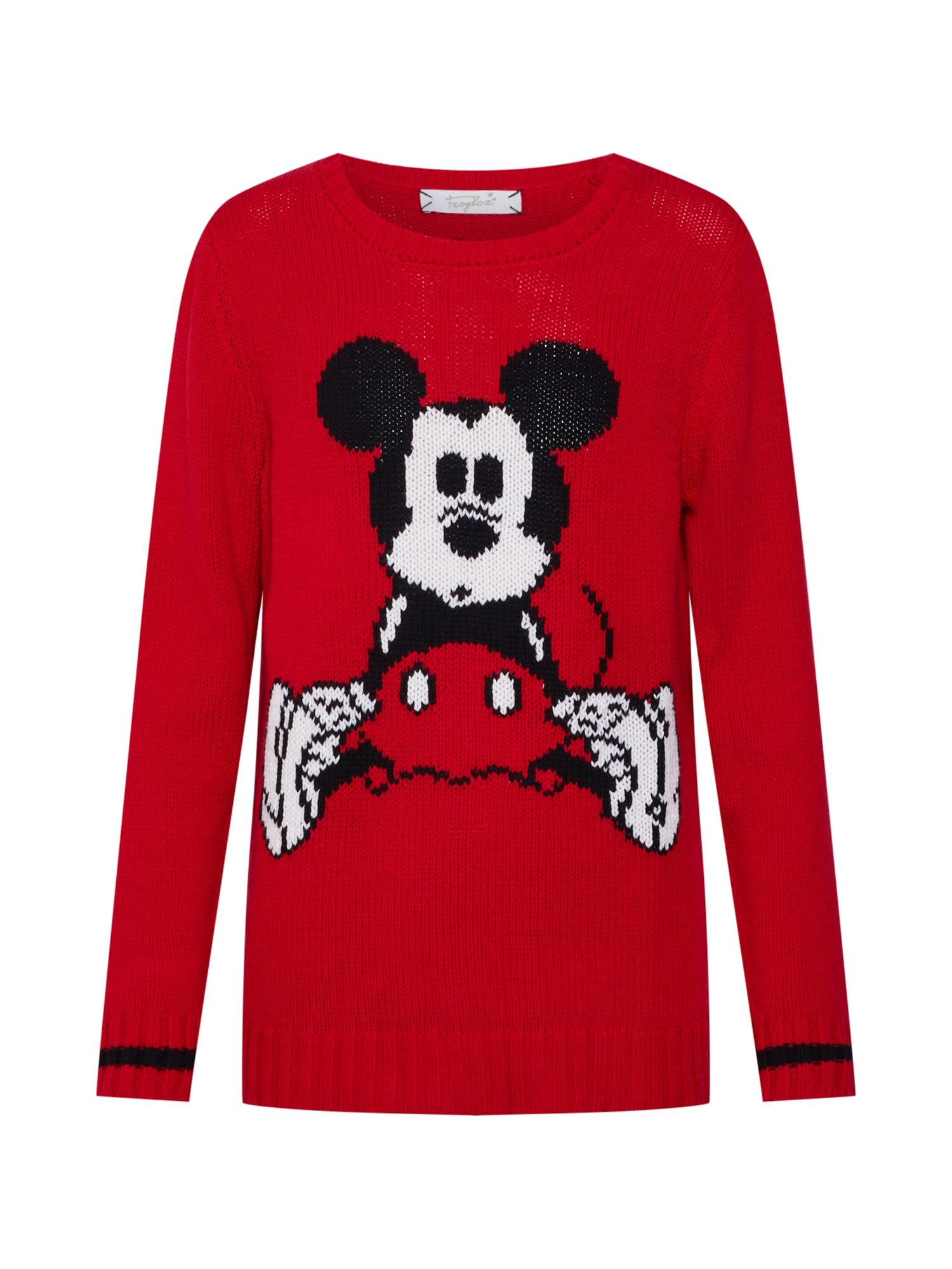 Svetr Mickey mouse červená černá bílá Frogbox
