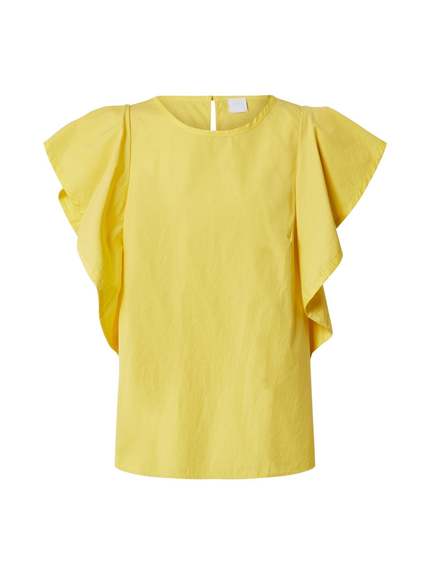 BOSS Marškinėliai 'Ciguida' geltona
