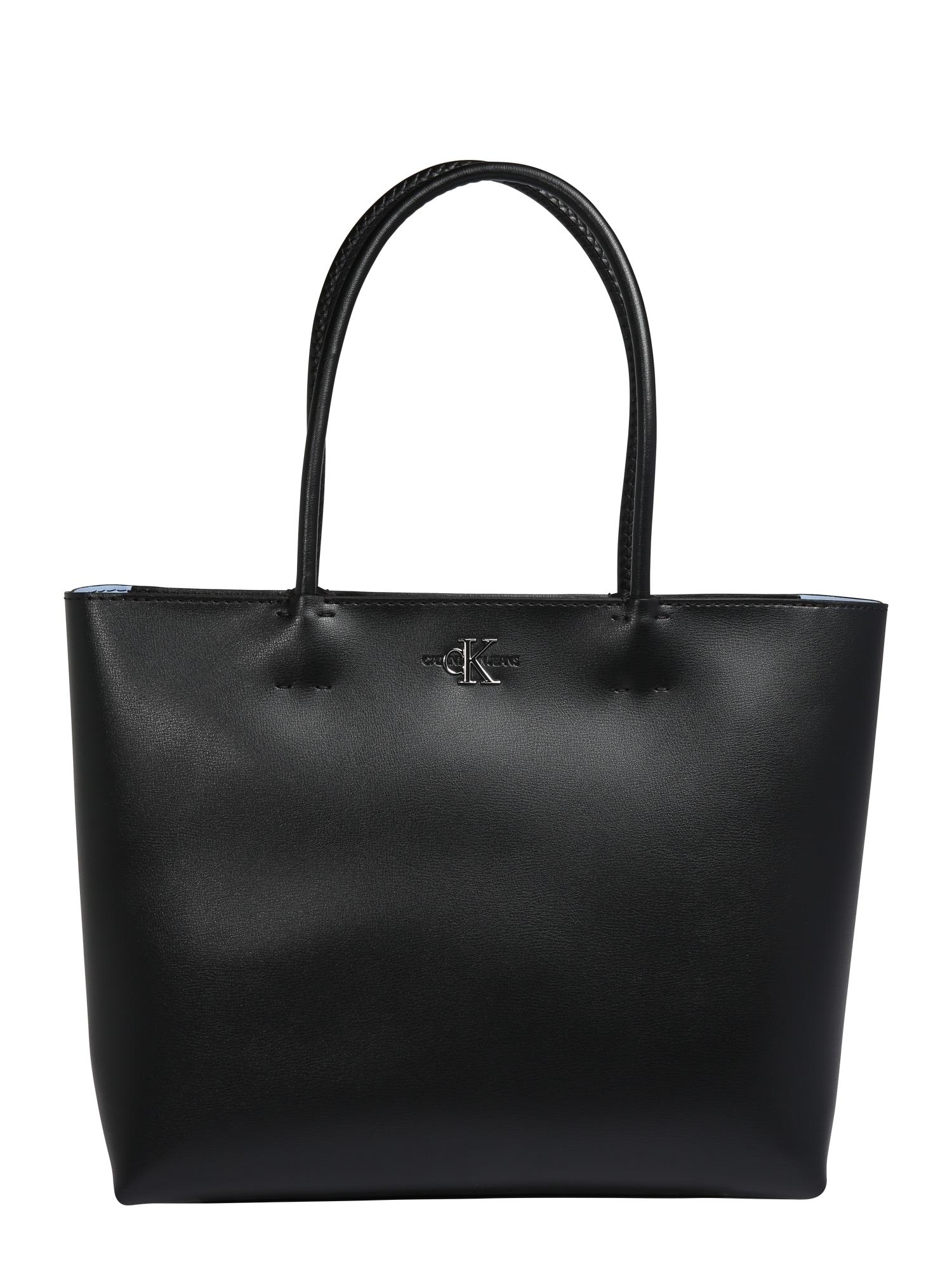 Calvin Klein Jeans Pirkinių krepšys ' MONO HARDWARE' juoda