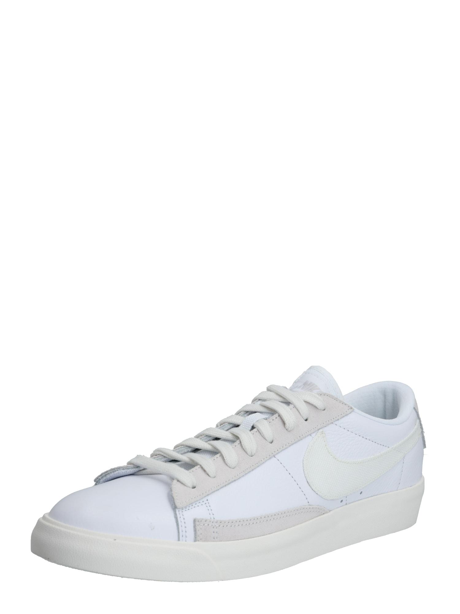 Nike Sportswear Nízke tenisky 'Blazer'  platinová / biela