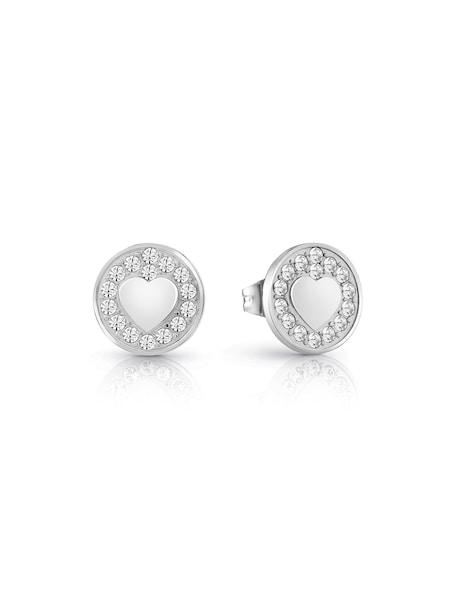 Ohrringe für Frauen - GUESS OHRRINGE 'JAMILA' silber weiß  - Onlineshop ABOUT YOU
