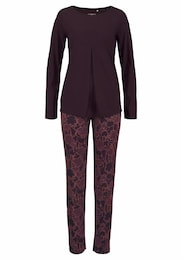 CALIDA Damen Pyjama Grace mit allover-gemusterter Longpants pink | 07613306492542