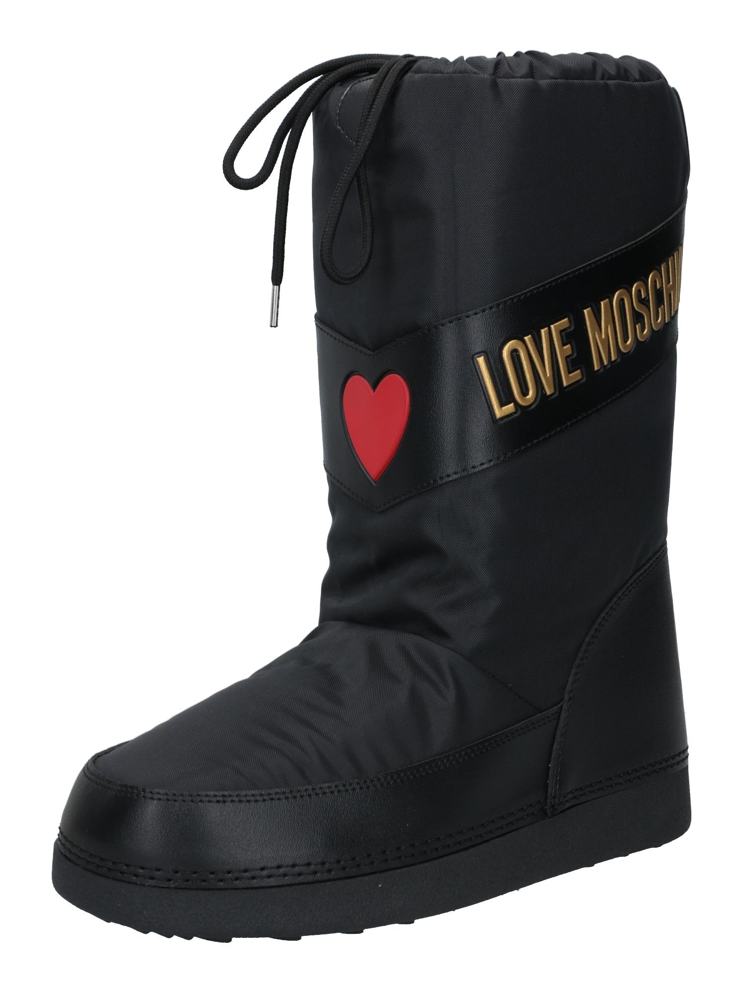 Love Moschino Sniego batai auksas / juoda