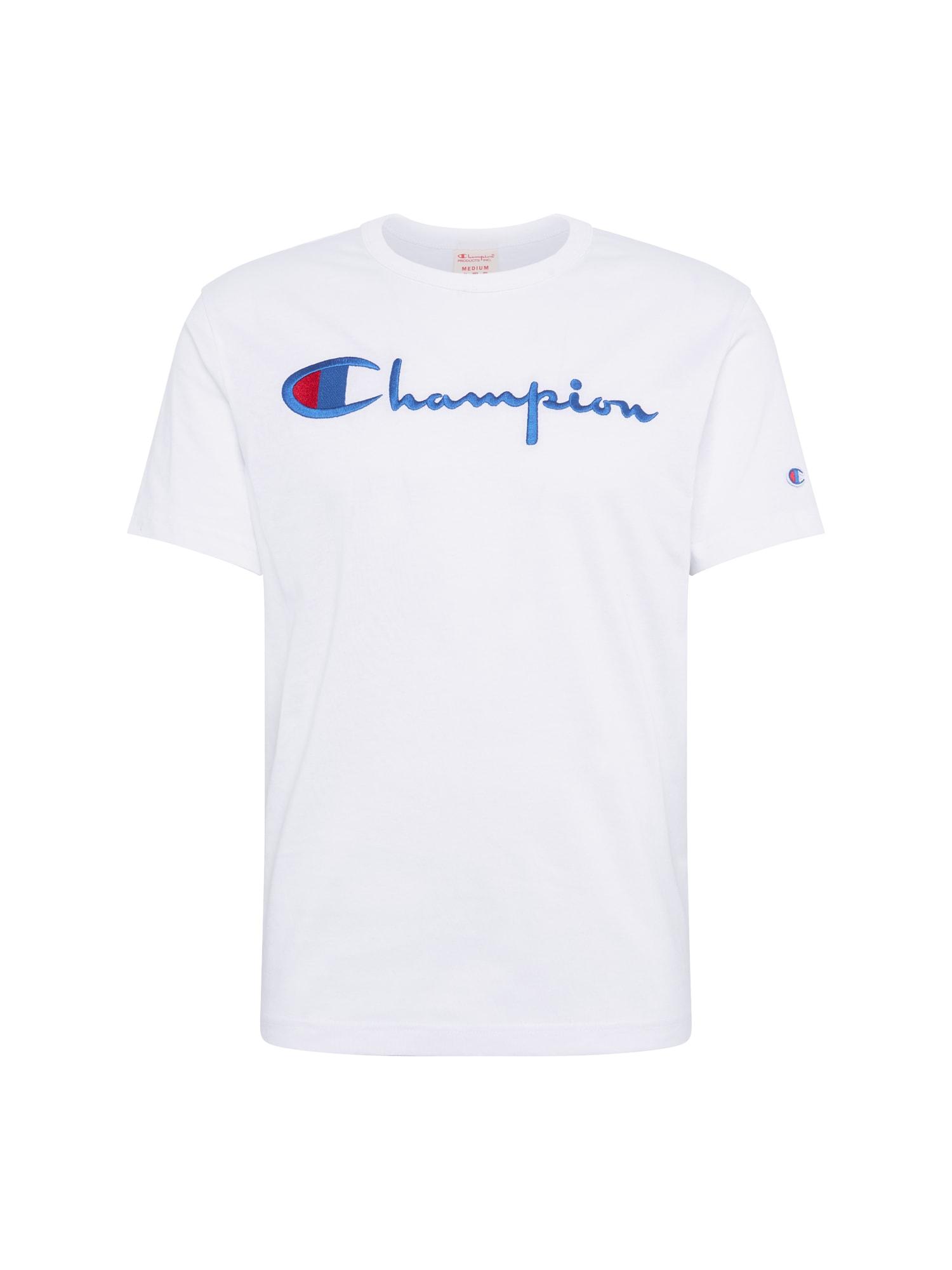 Champion Reverse Weave Marškinėliai tamsiai mėlyna / balta