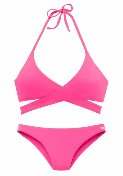 Bademode - Triangel Bikini in Wickeloptik › Bench › pink  - Onlineshop ABOUT YOU