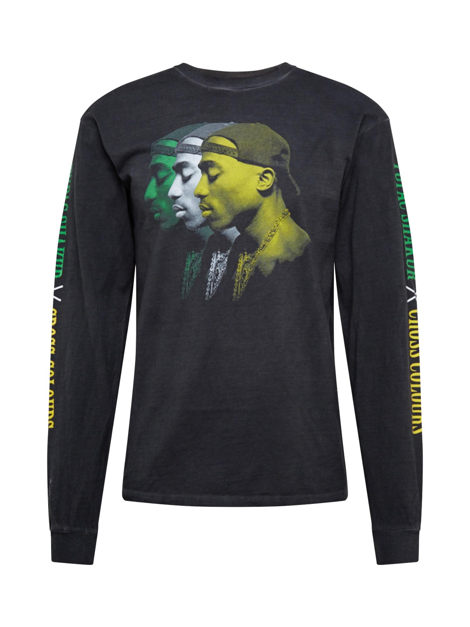 CROSS COLOURS Marškinėliai 'Tupac Transparant' juoda / mišrios spalvos