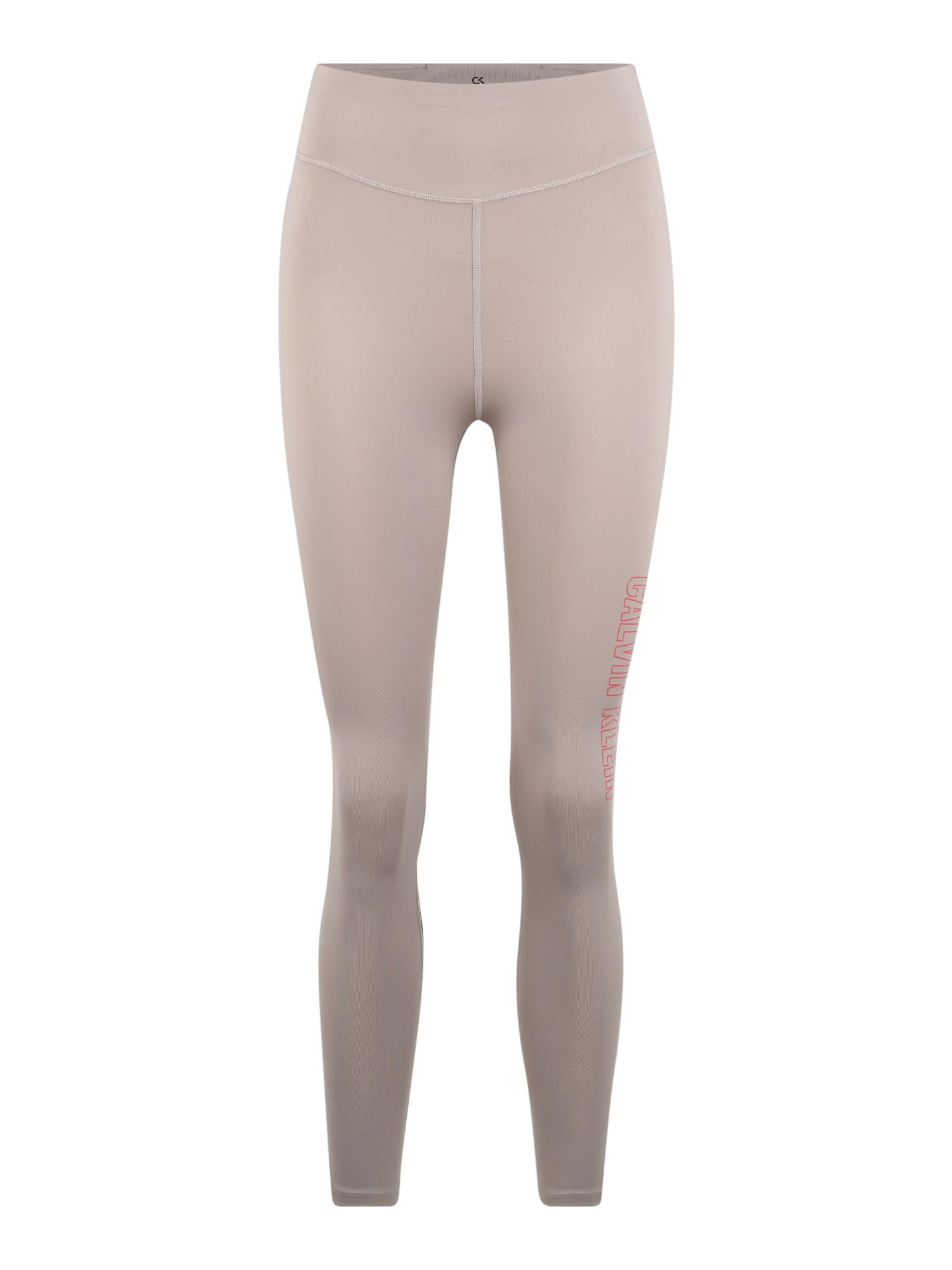 Calvin Klein Performance Sportinės kelnės juoda / smėlio
