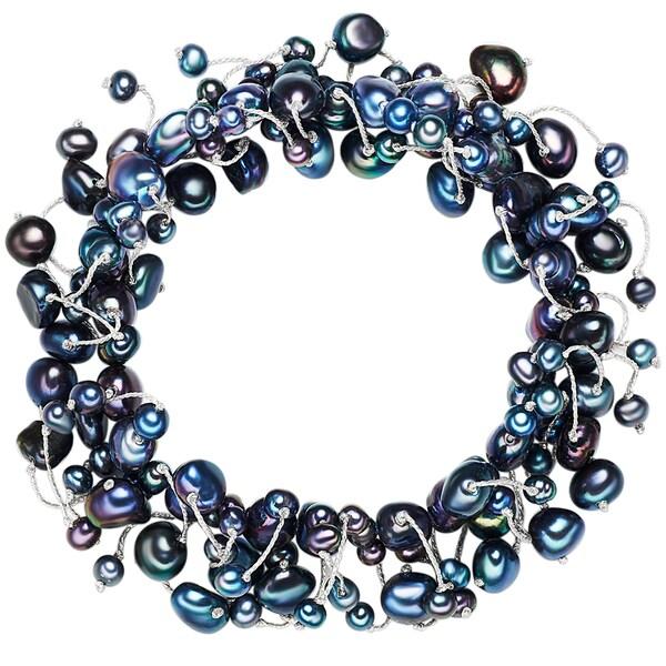 Armbaender für Frauen - Valero Pearls Armband mit Süßwasser Zuchtperlen blau nachtblau  - Onlineshop ABOUT YOU