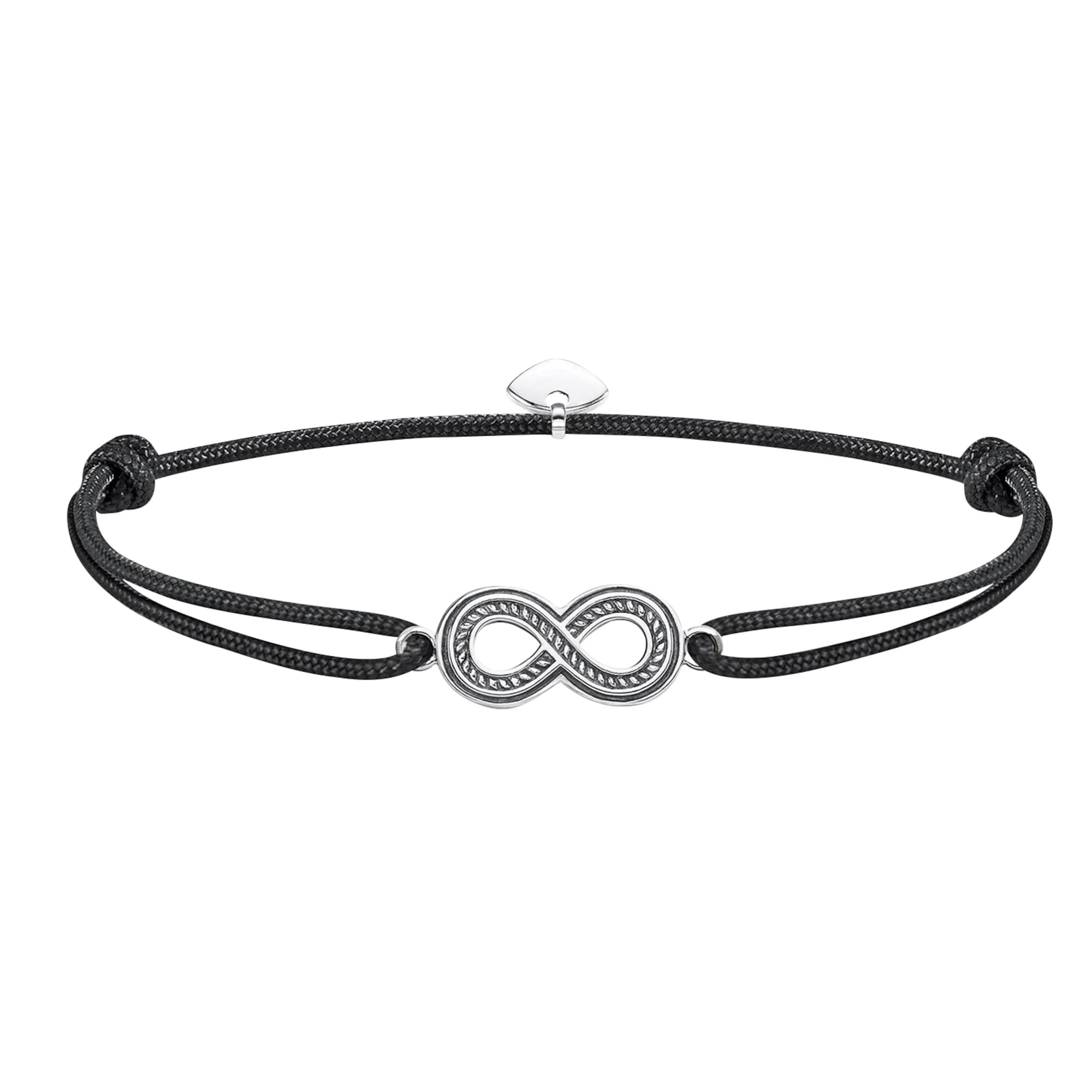 Náramek Little Secret Infinity černá stříbrná Thomas Sabo
