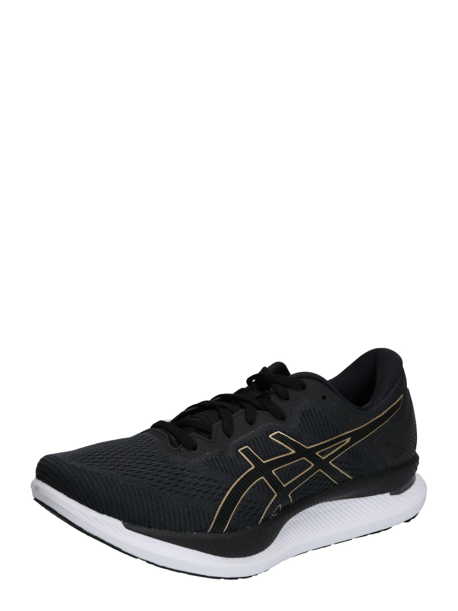 ASICS Bėgimo batai 'Glidride' juoda / auksas
