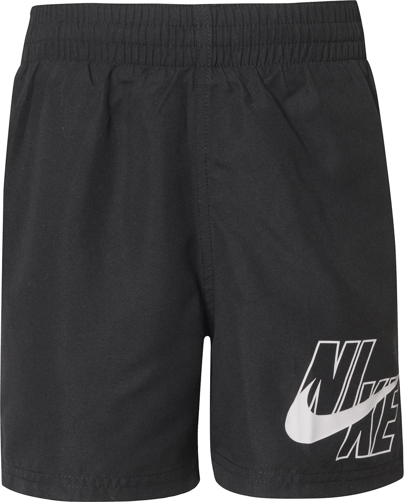 NIKE Sportinis maudymosi kostiumėlis 'Volley' juoda / balta
