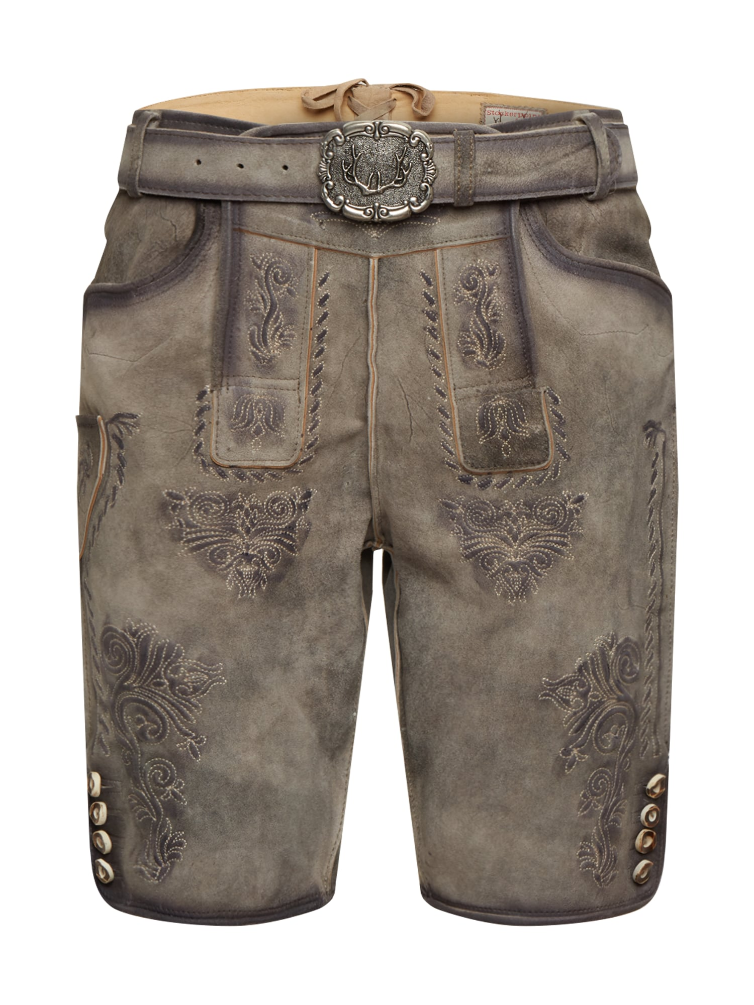 - CONTRAER - Kelnės su tradiciniais raštais 'Andreas' pilka
