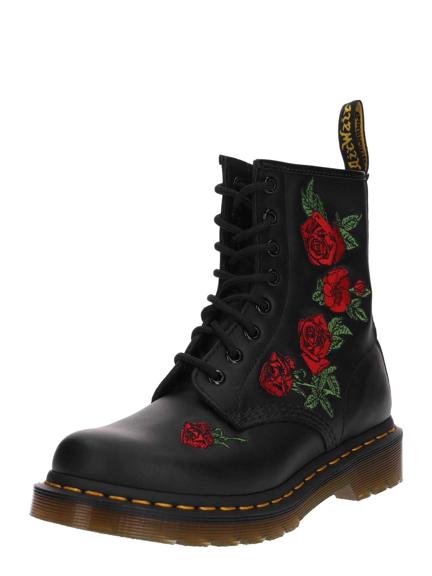 Dr. Martens Suvarstomieji batai '8 Eye Boot 1460 Embroidery' juoda