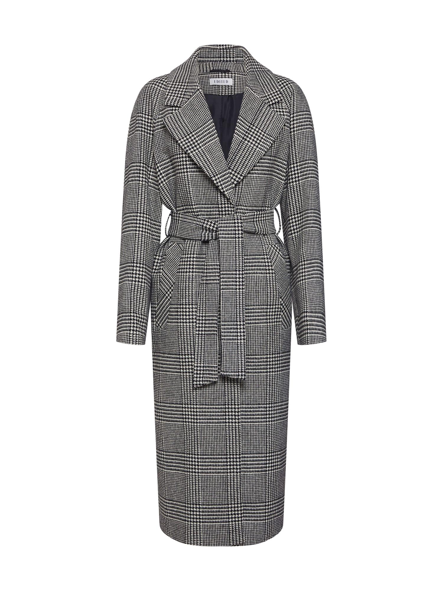 EDITED Rudeninis-žieminis paltas 'Cecilia' juoda / balta