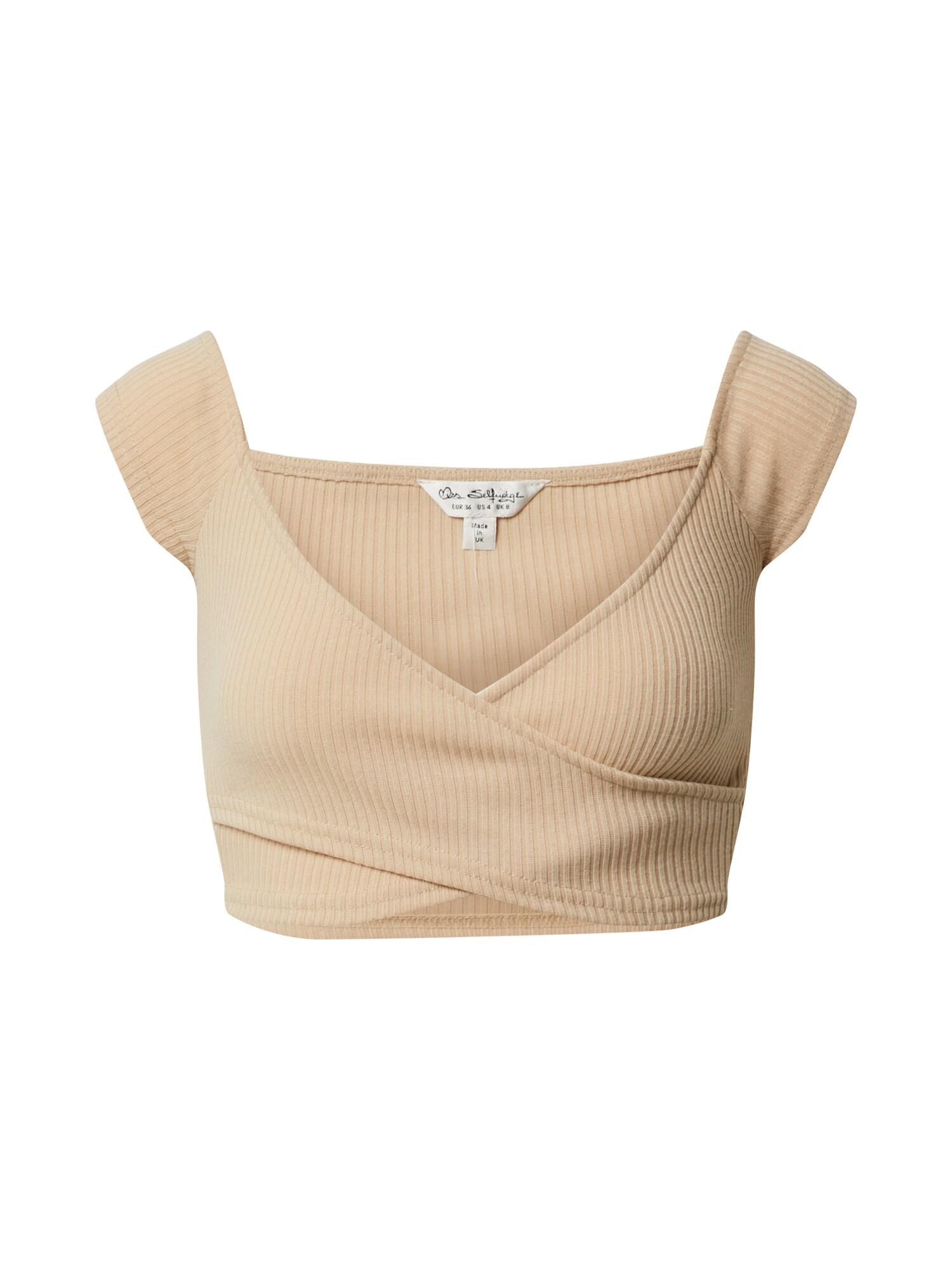 Miss Selfridge Marškinėliai 'RIB WRAP BARDOT TOP' odos