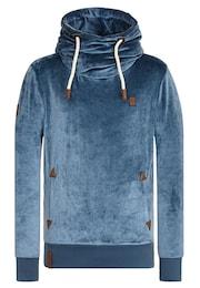 Naketano Herren Zipped Jacket Schwanzus Longus Mack II blau   04049502434032