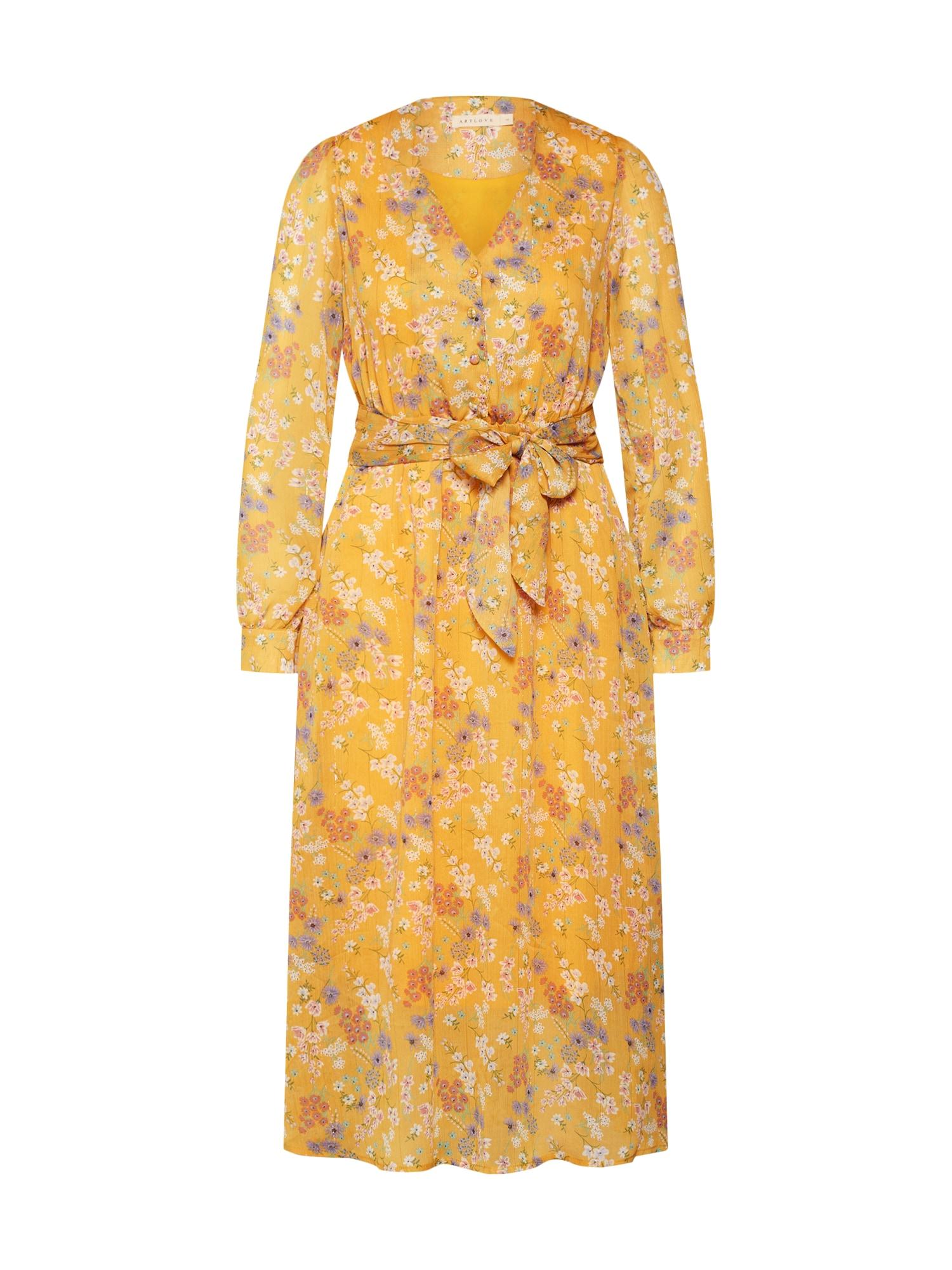 Šaty žlutá bílá ARTLOVE Paris