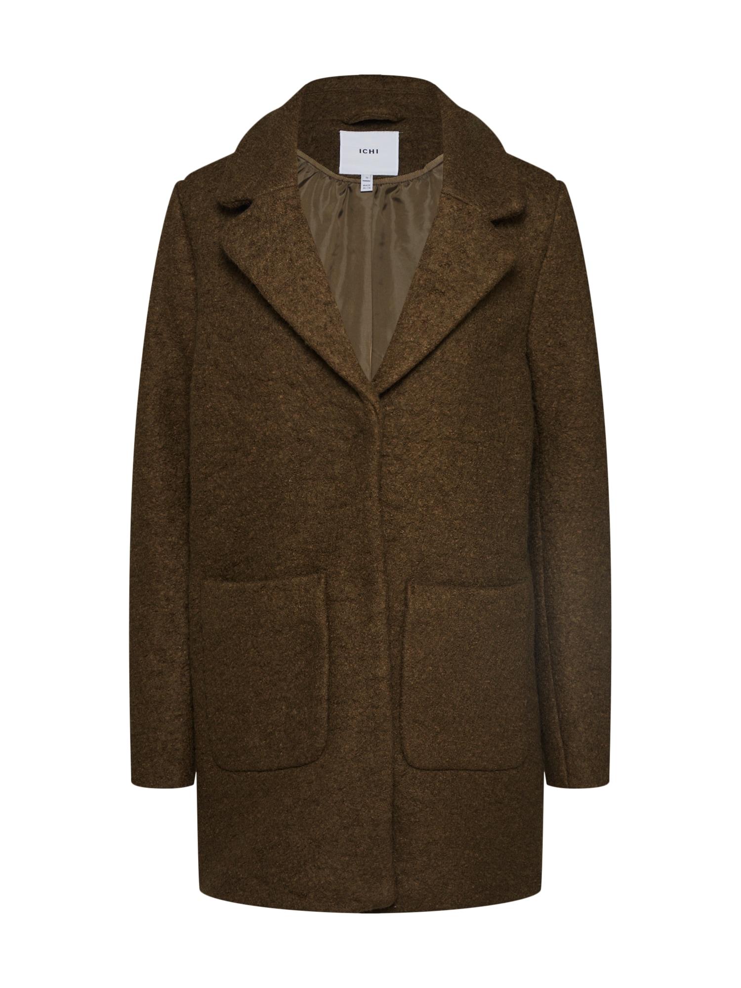 ICHI Rudeninis-žieminis paltas alyvuogių spalva