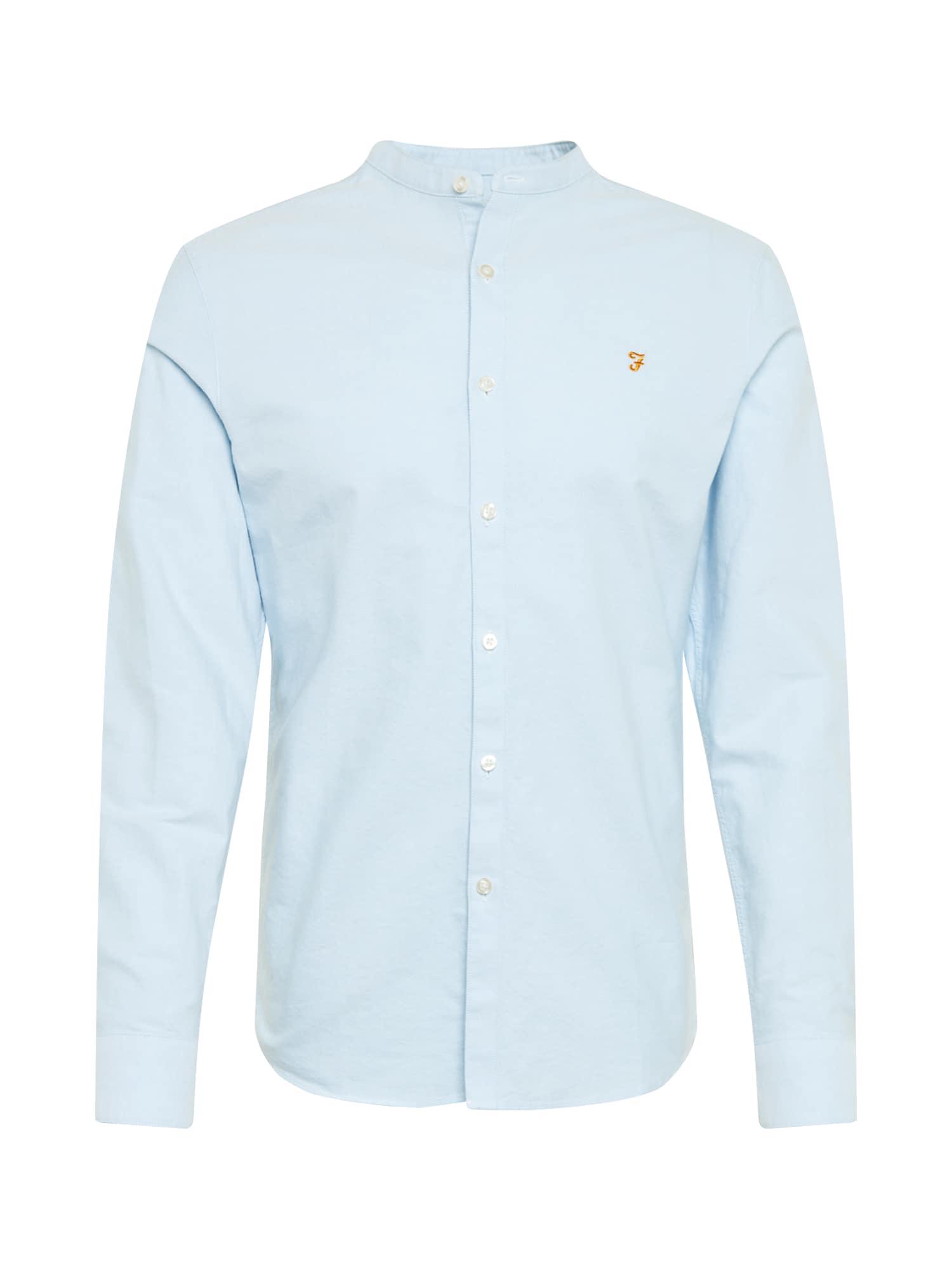 FARAH Dalykiniai marškiniai 'BREWER' šviesiai mėlyna