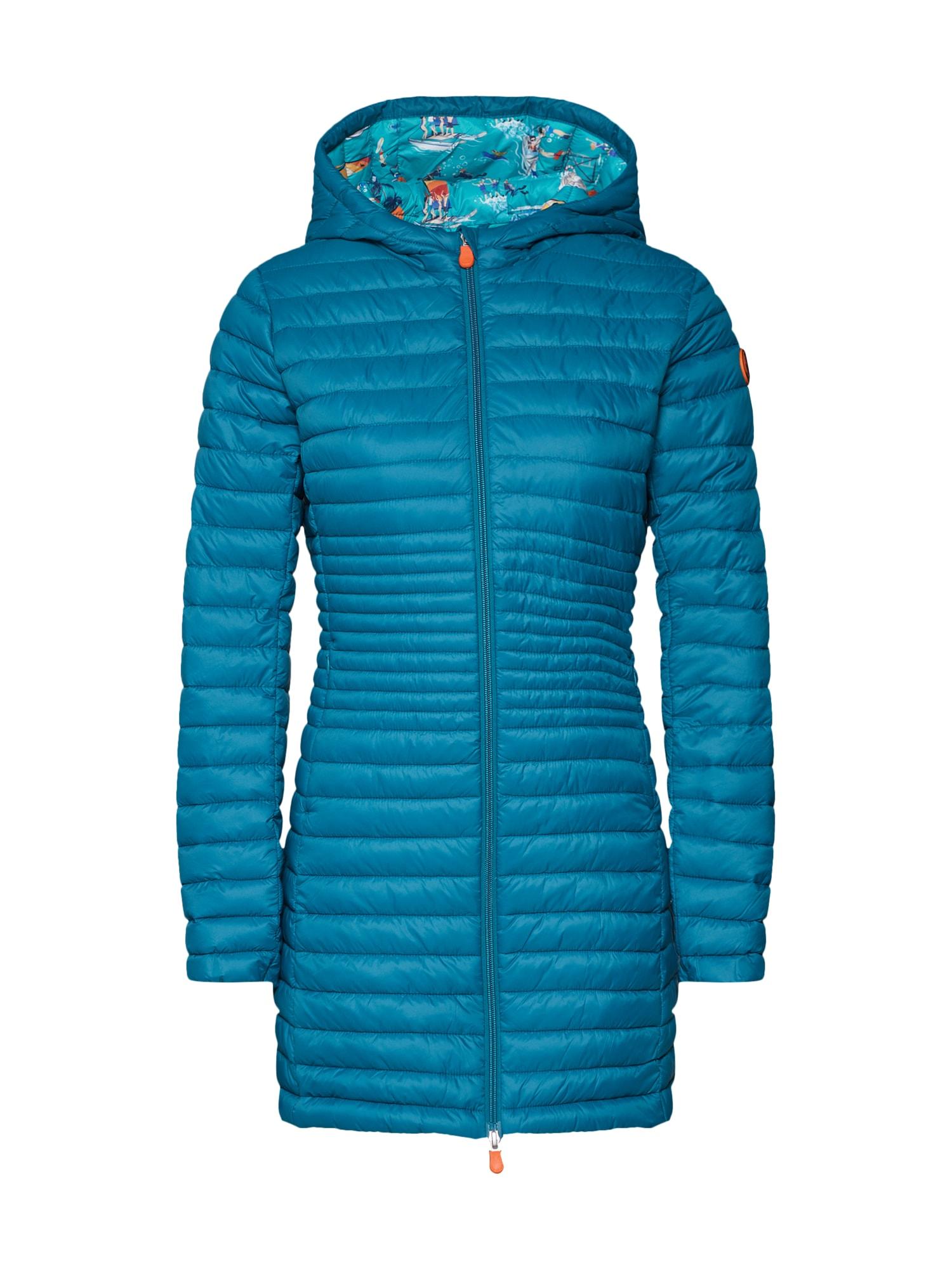 Zimní kabát GIGA8 petrolejová mix barev SAVE THE DUCK