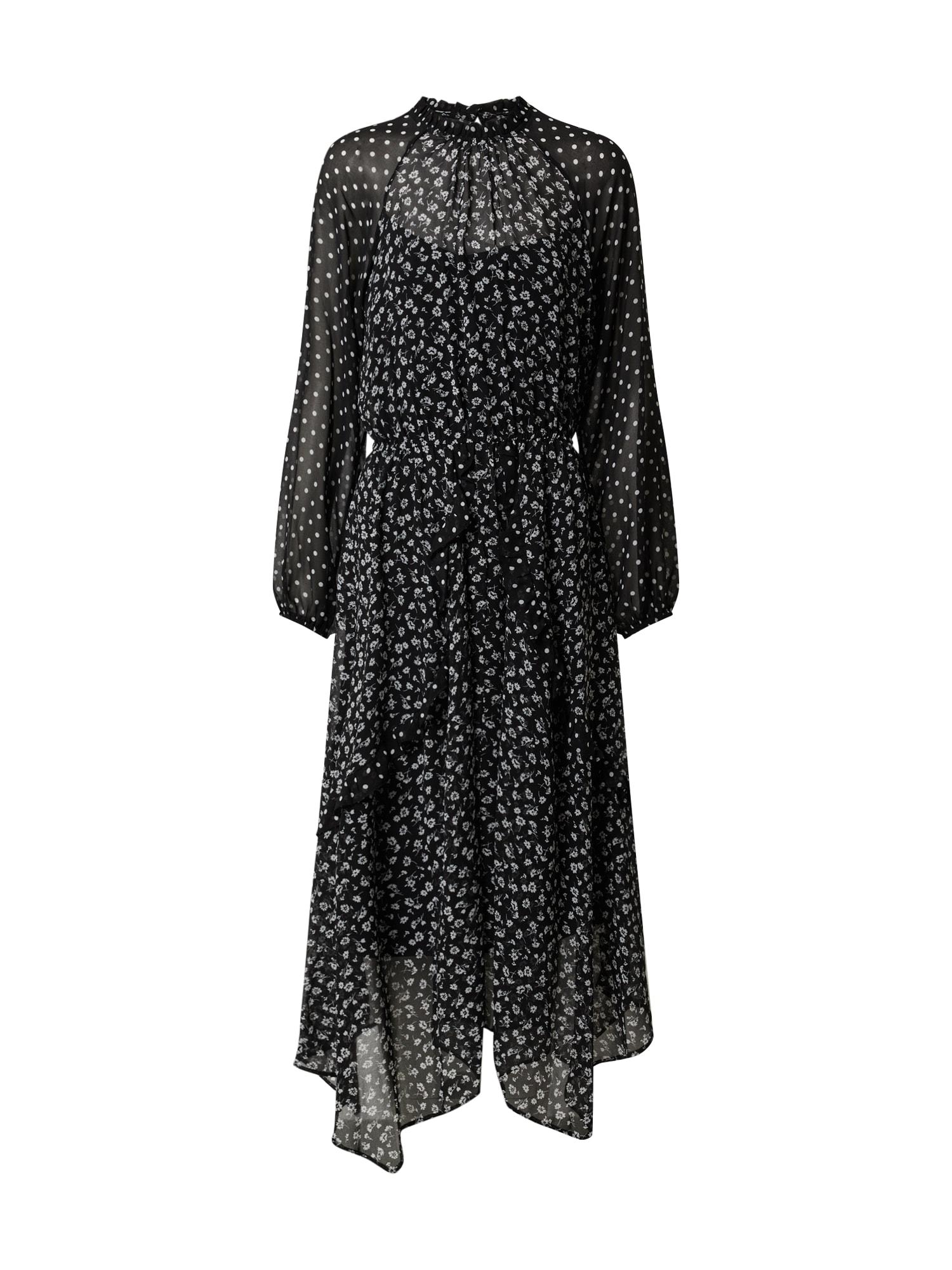 Dorothy Perkins Vasarinė suknelė balta / juoda