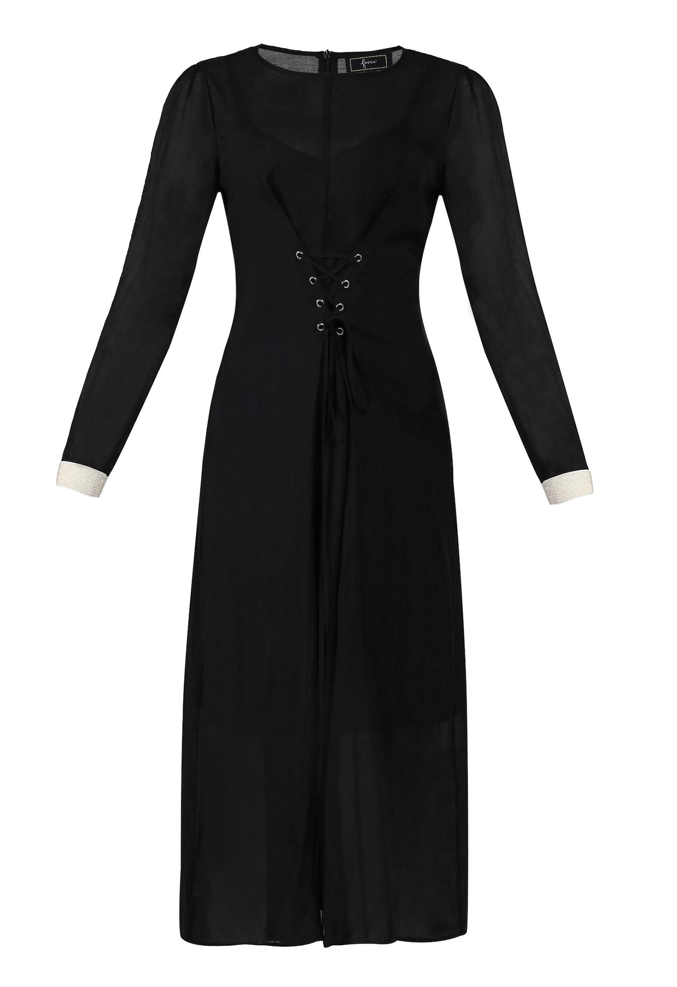 faina Suknelė juoda / balta