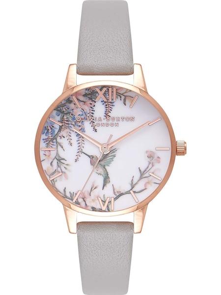 Uhren für Frauen - Olivia Burton Uhr 'Painterly Prints OB16PP22' gold grau mischfarben weiß  - Onlineshop ABOUT YOU