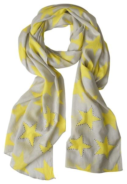 Schals für Frauen - STREET ONE Schal mit Sterne gelb grau  - Onlineshop ABOUT YOU