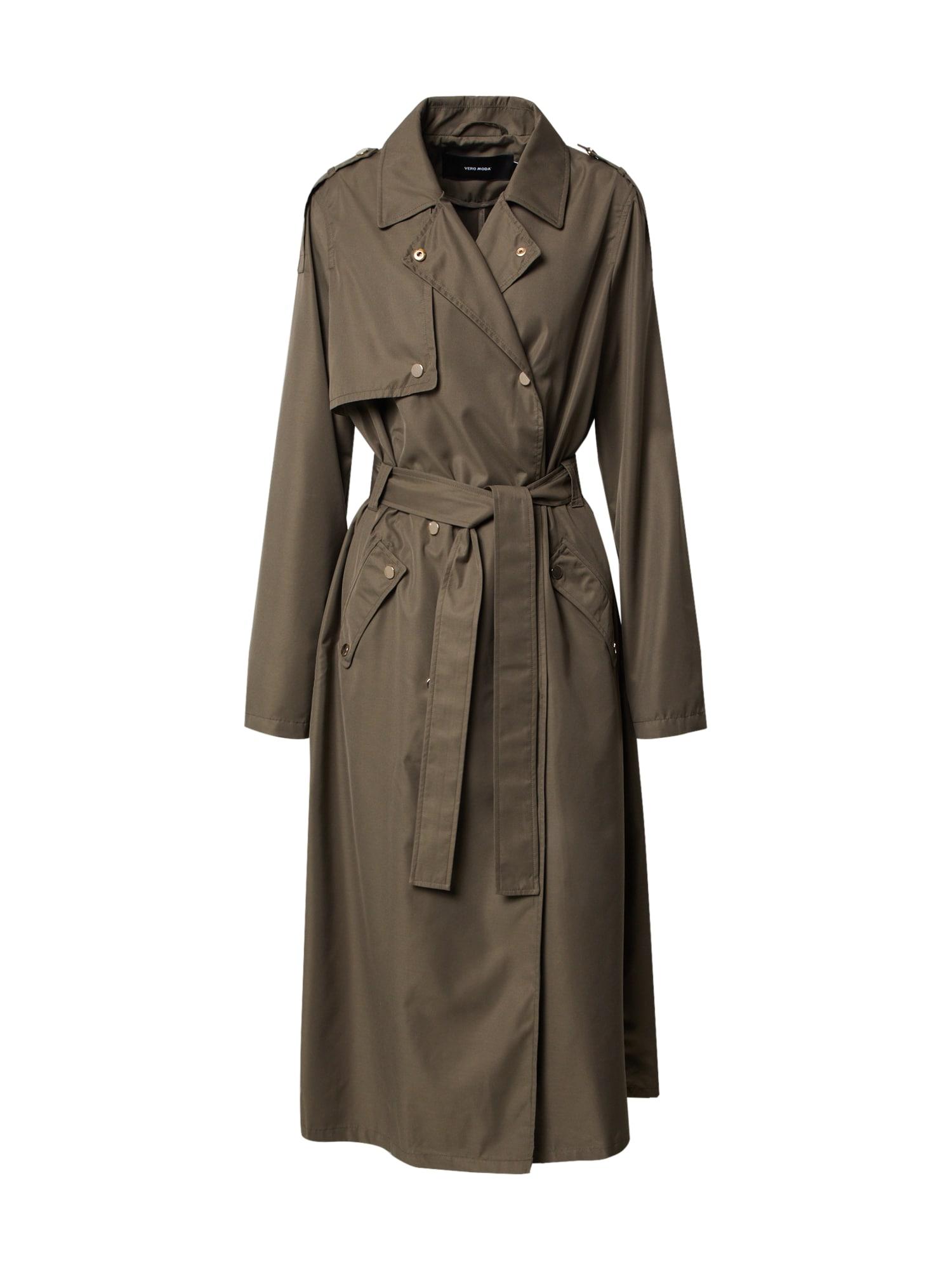 Vero Moda Tall Rudeninis-žieminis paltas 'VMELYA' rusvai žalia